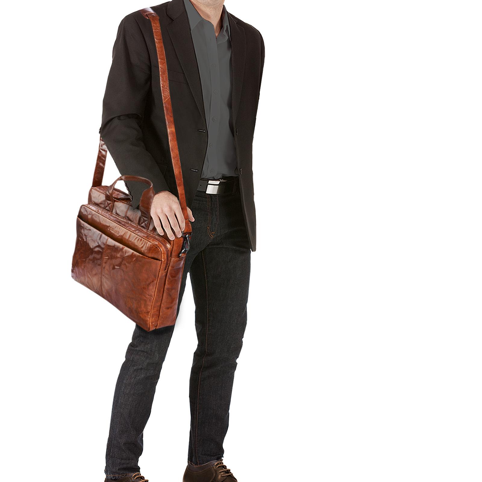 Vintage Leder Umhängetasche für Herren groß