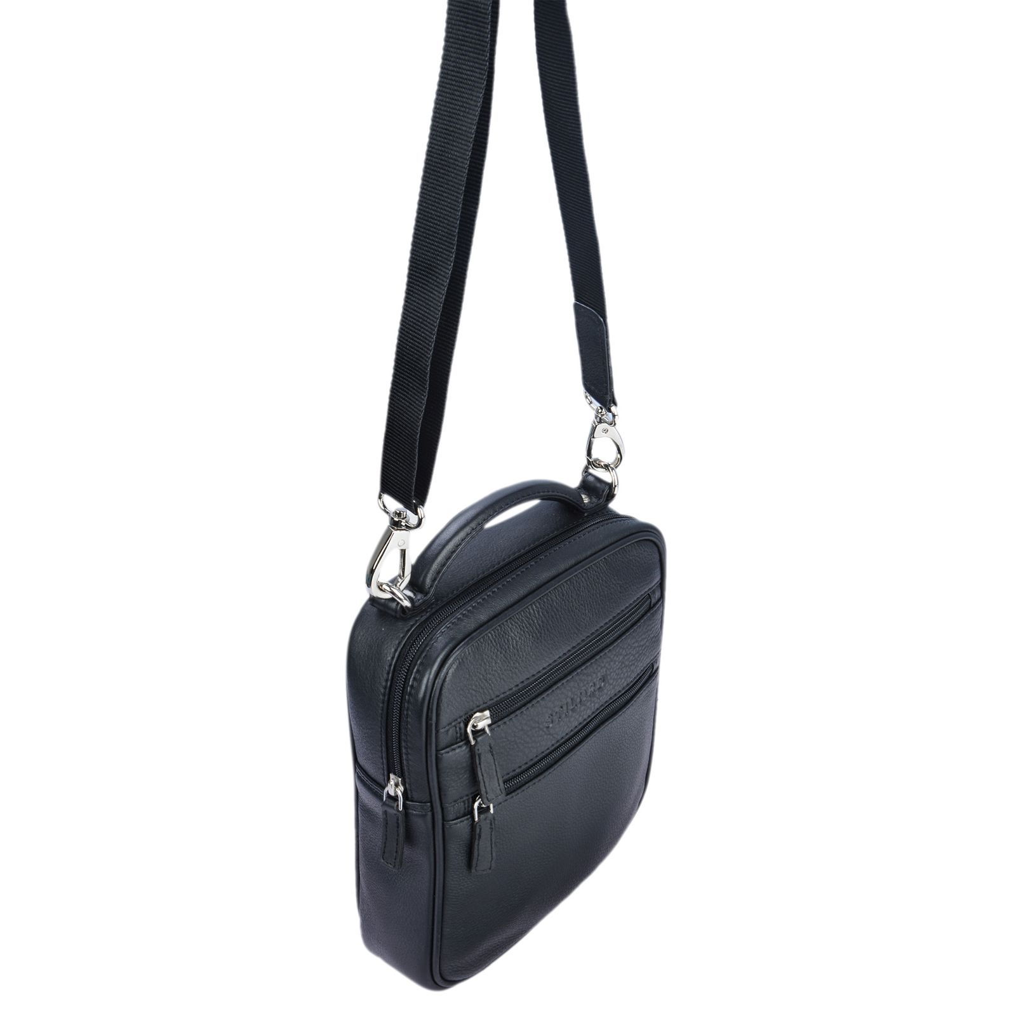"""STILORD """"Mats"""" Herren Handtasche Leder Vintage kleine Messenger Bag mit Tragegriff Tablettasche für 9.7 Zoll iPad DIN A5 Dokumente Umhängetasche aus echtem Leder - Bild 13"""