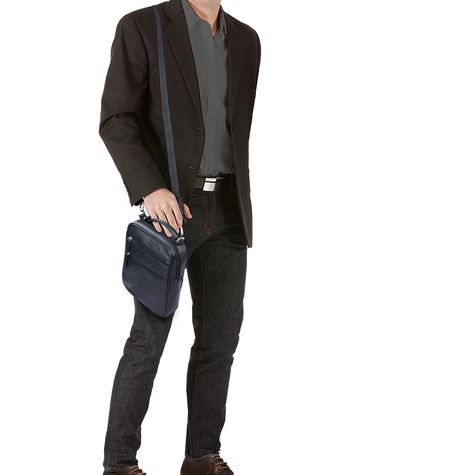 """STILORD """"Mats"""" Herren Handtasche Leder Vintage kleine Messenger Bag mit Tragegriff Tablettasche für 9.7 Zoll iPad DIN A5 Dokumente Umhängetasche aus echtem Leder - Bild 10"""