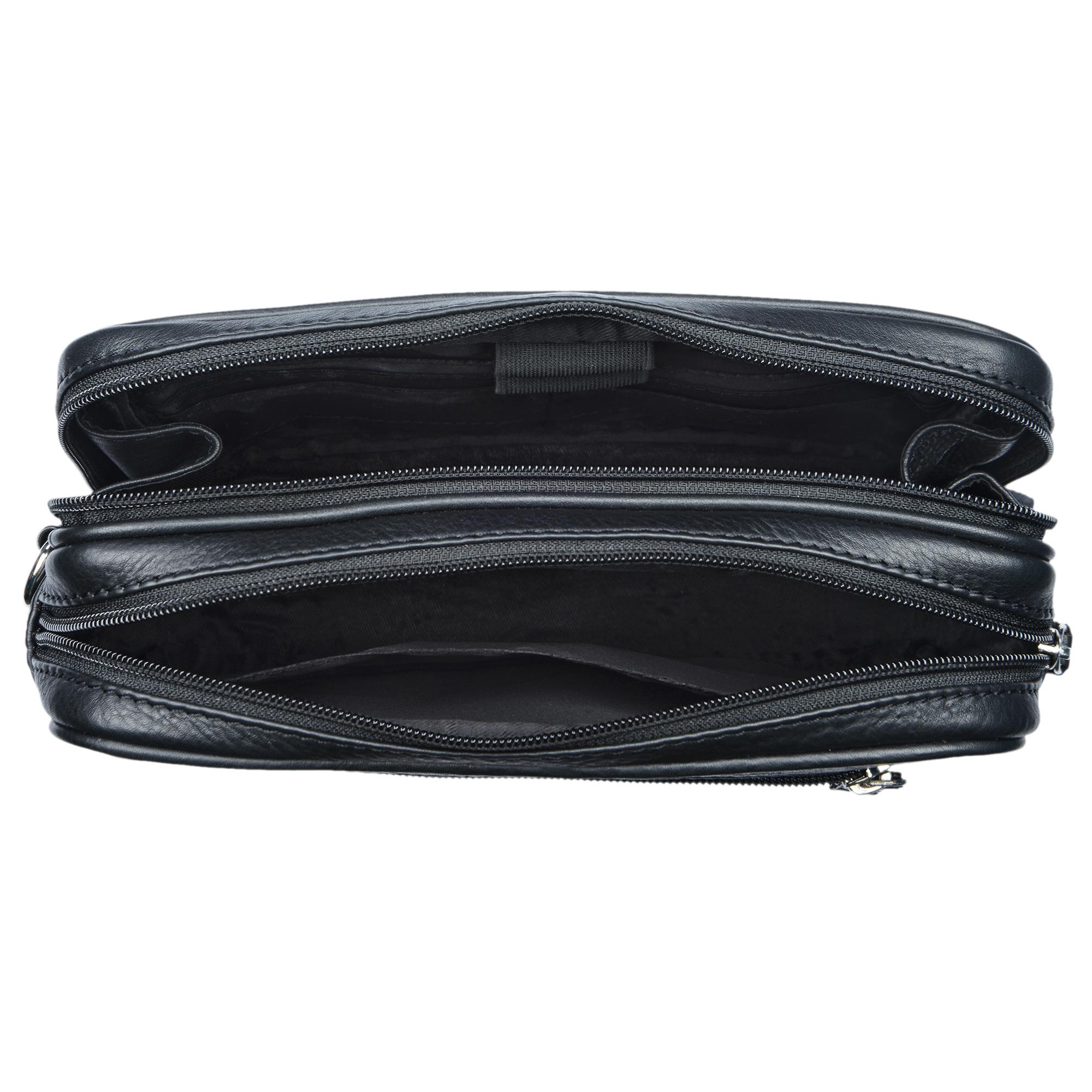 """STILORD """"Nero"""" Handgelenktasche Herren Leder mit Doppelkammer Vintage Handtasche für 8,4 Zoll Tablets ideal für Reisen Festival Herrenhandtasche echtes Leder - Bild 10"""