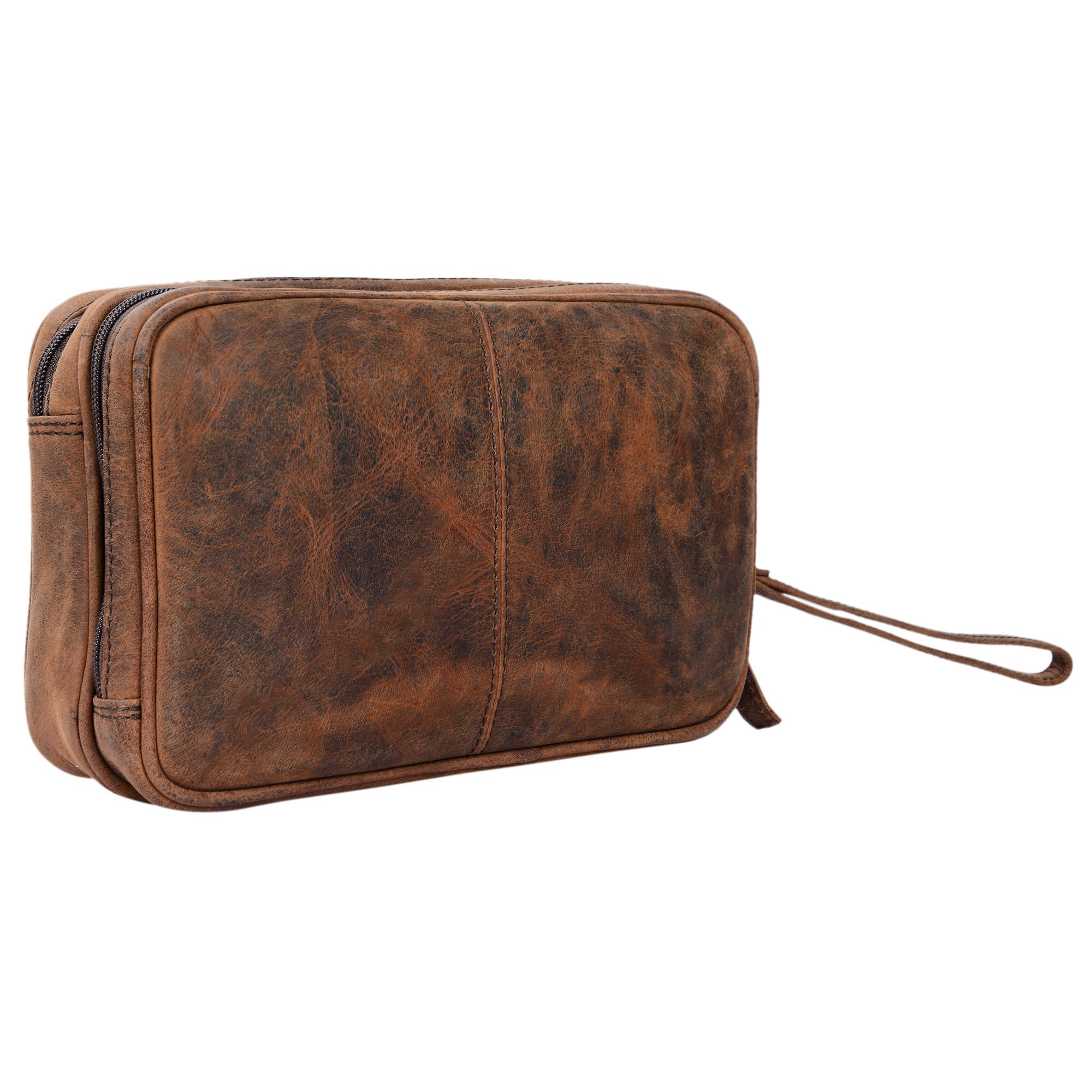 """STILORD """"Nero"""" Handgelenktasche Herren Leder mit Doppelkammer Vintage Handtasche für 8,4 Zoll Tablets ideal für Reisen Festival Herrenhandtasche echtes Leder - Bild 21"""