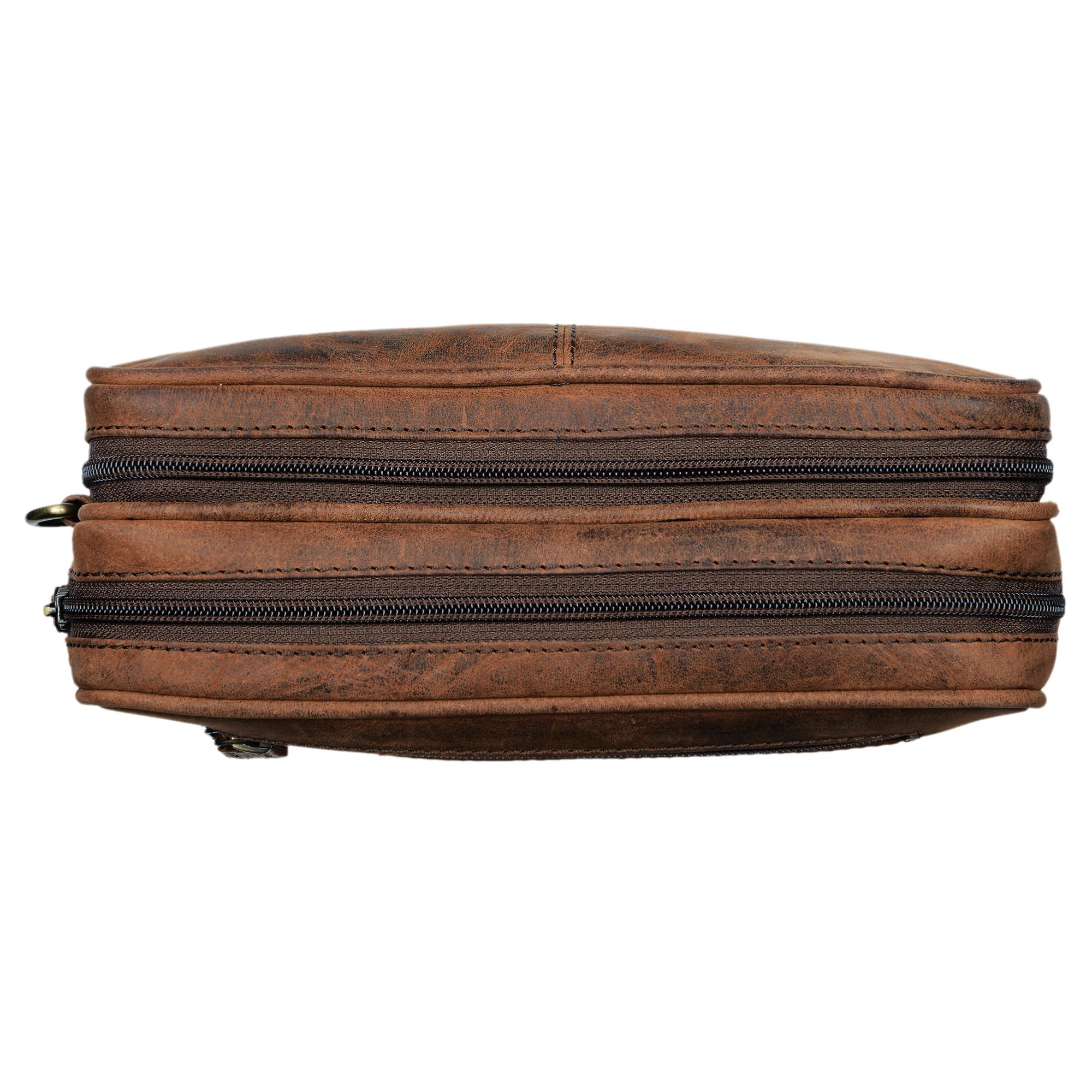 """STILORD """"Nero"""" Handgelenktasche Herren Leder mit Doppelkammer Vintage Handtasche für 8,4 Zoll Tablets ideal für Reisen Festival Herrenhandtasche echtes Leder - Bild 18"""