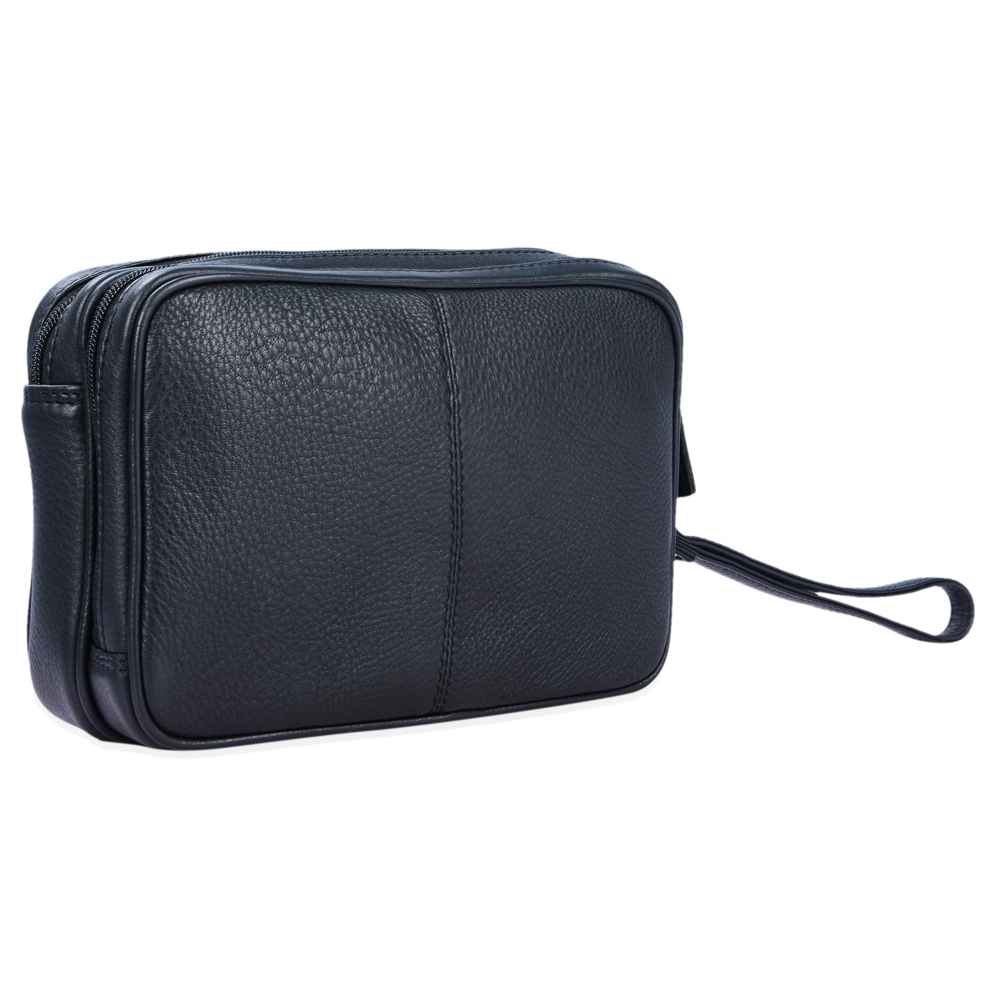 """STILORD """"Nero"""" Handgelenktasche Herren Leder mit Doppelkammer Vintage Handtasche für 8,4 Zoll Tablets ideal für Reisen Festival Herrenhandtasche echtes Leder - Bild 14"""