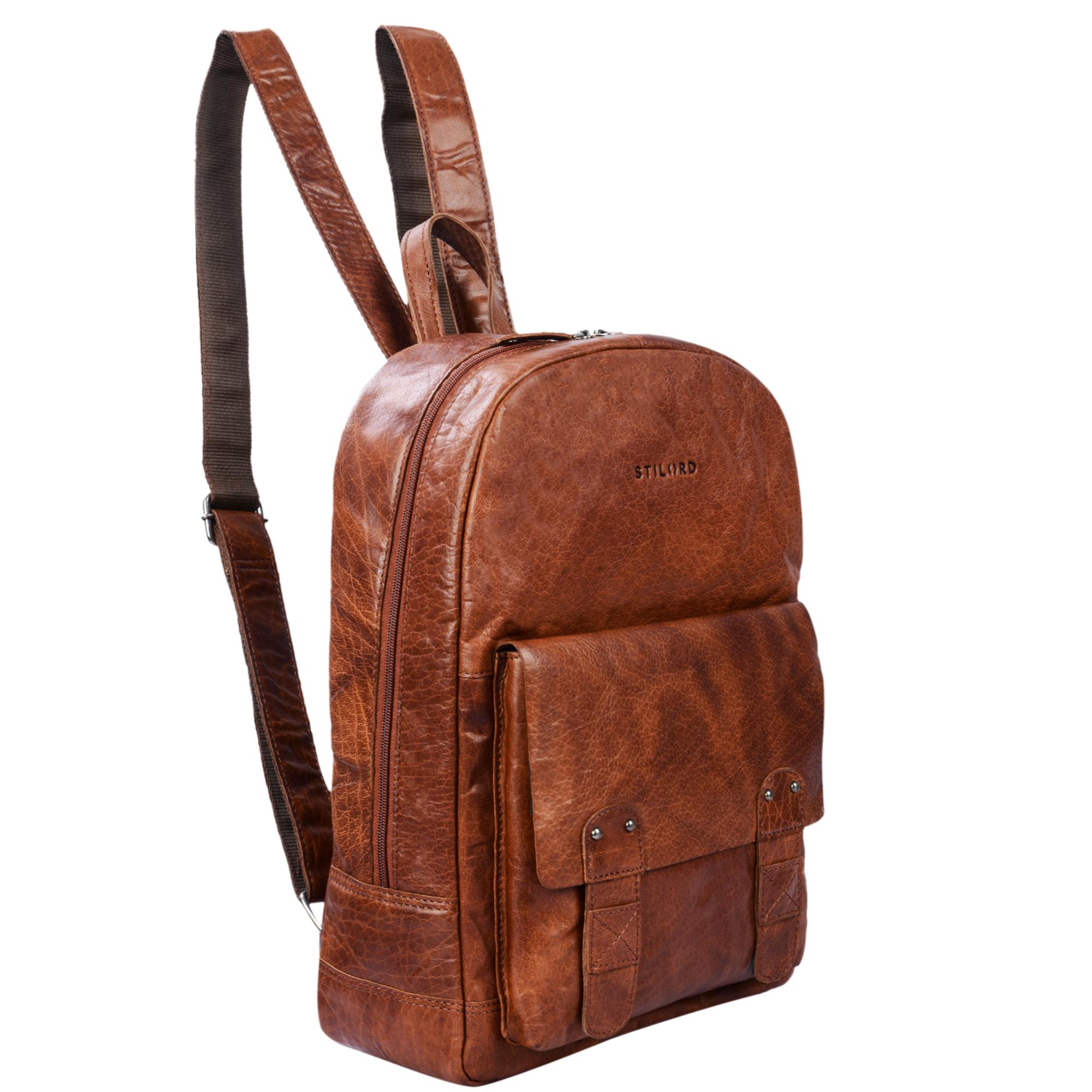 Großer Leder Rucksack Vintage
