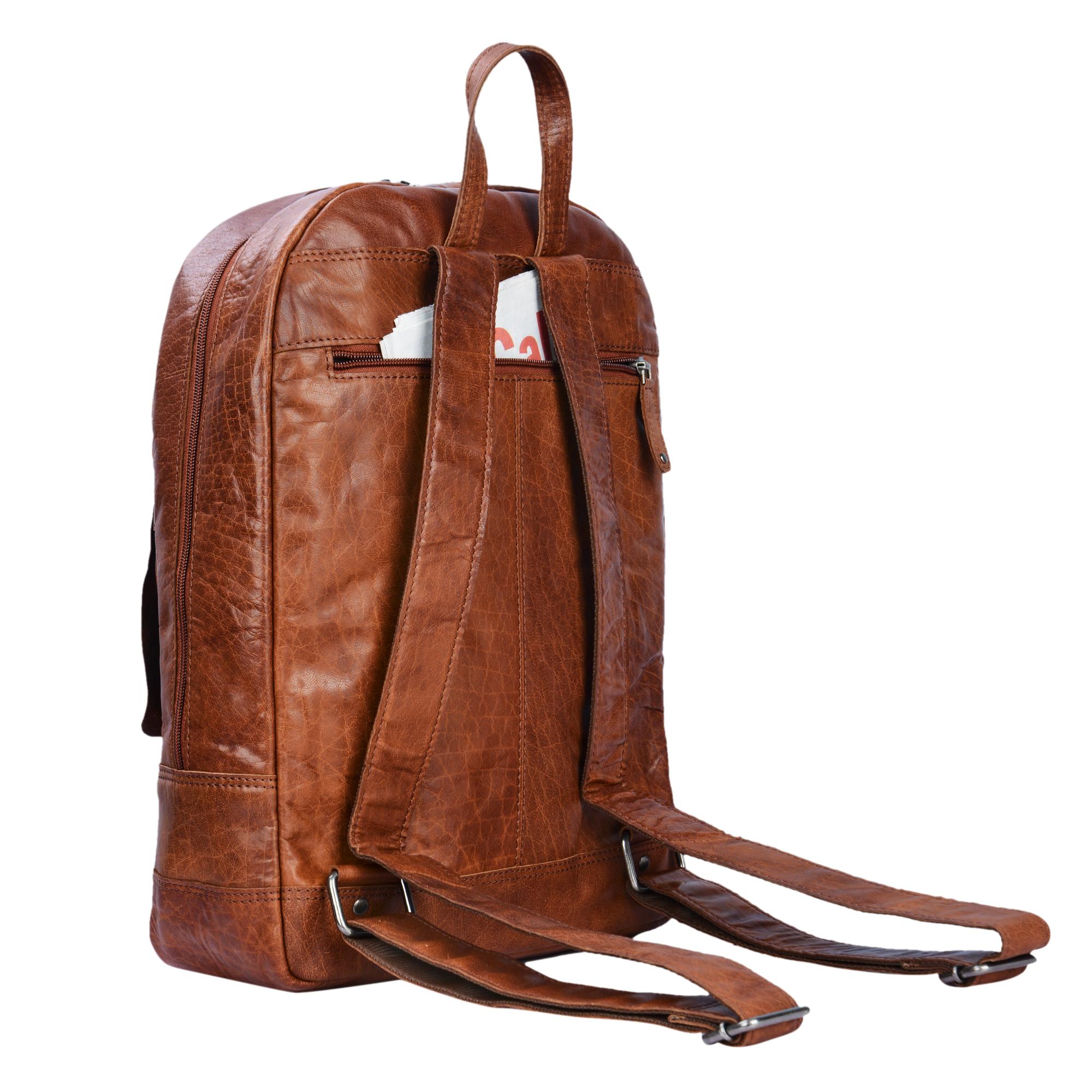 Schulrucksack XL Leder DIN A4