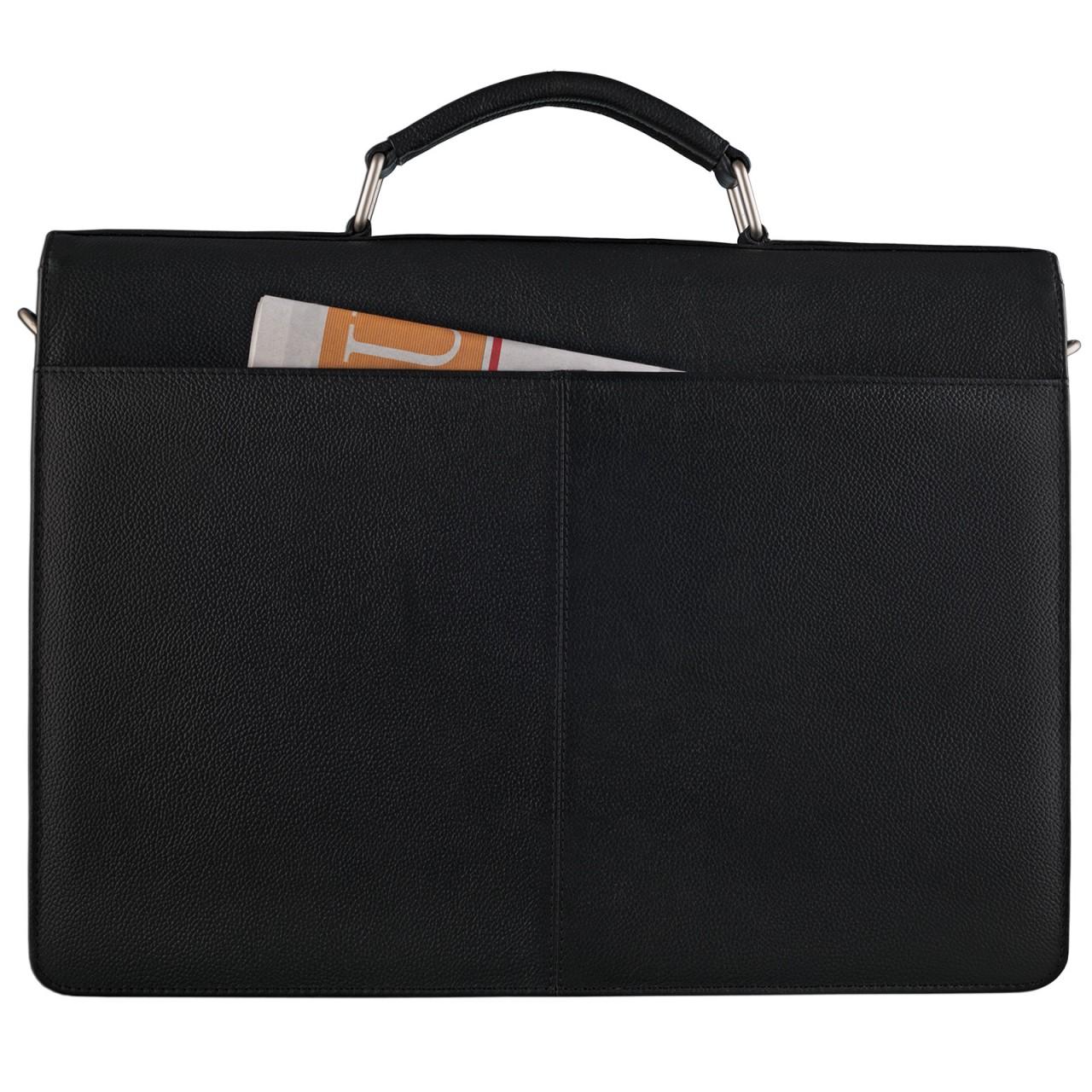 Office Bürotasche STILORD schwarzes Leder elegant stilvoll