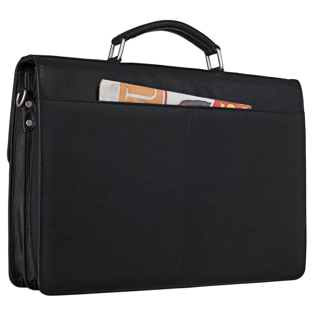 """STILORD """"Robert"""" Aktentasche Businesstasche 15,6 Zoll Laptopfach passend für große DIN A4 Ordner mit Schloss Rinds Leder - Bild 7"""