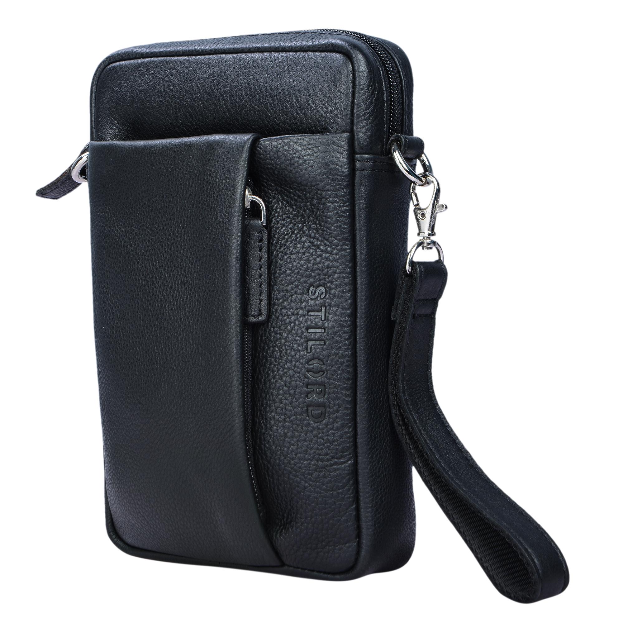 Braune Handtasche für Herren Leder