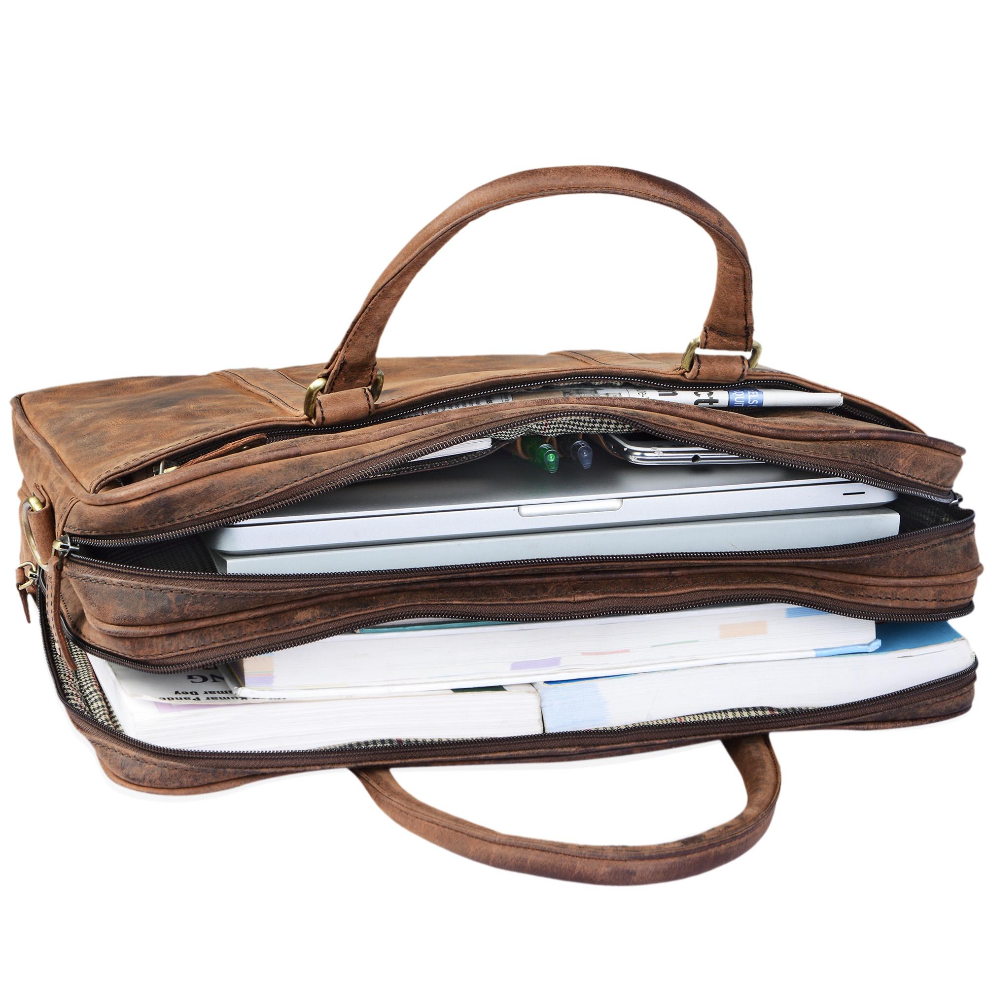 """STILORD """"Dante"""" Businesstasche Leder groß elegante Aktentasche Umhängetasche Schultertasche 15.6 Zoll Office Büro echtes Rindsleder  - Bild 13"""