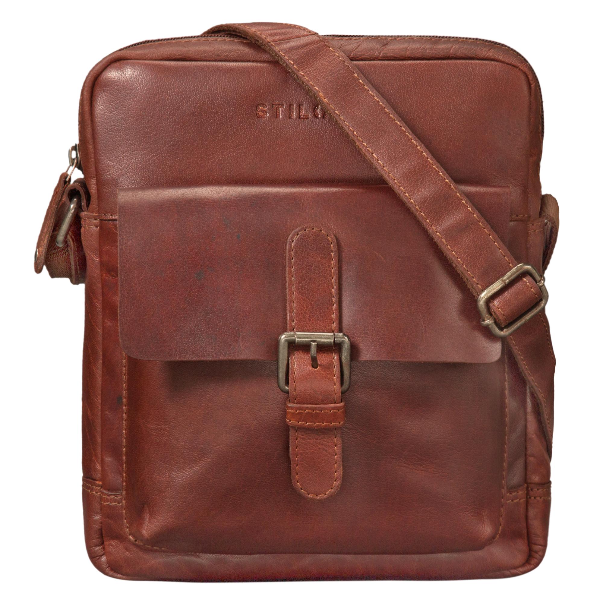 """STILORD """"Luan"""" Kleine Umhängetasche Leder Vintage für Männer und Frauen Messenger Bag mit 10.1 Zoll Tabletfach Cross Body Bag für DIN A5 aus echtem Leder - Bild 9"""