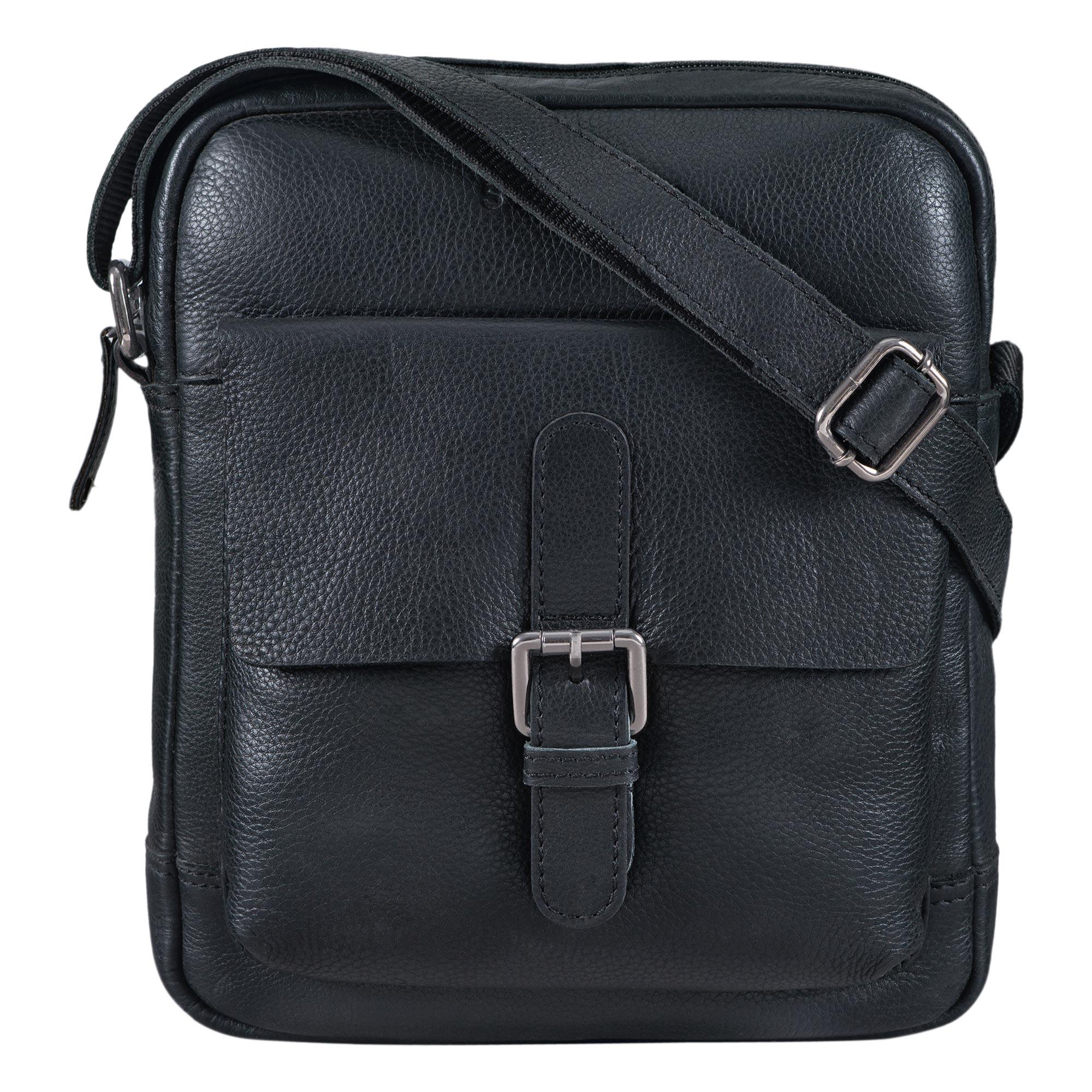 """STILORD """"Luan"""" Kleine Umhängetasche Leder Vintage für Männer und Frauen Messenger Bag mit 10.1 Zoll Tabletfach Cross Body Bag für DIN A5 aus echtem Leder - Bild 12"""