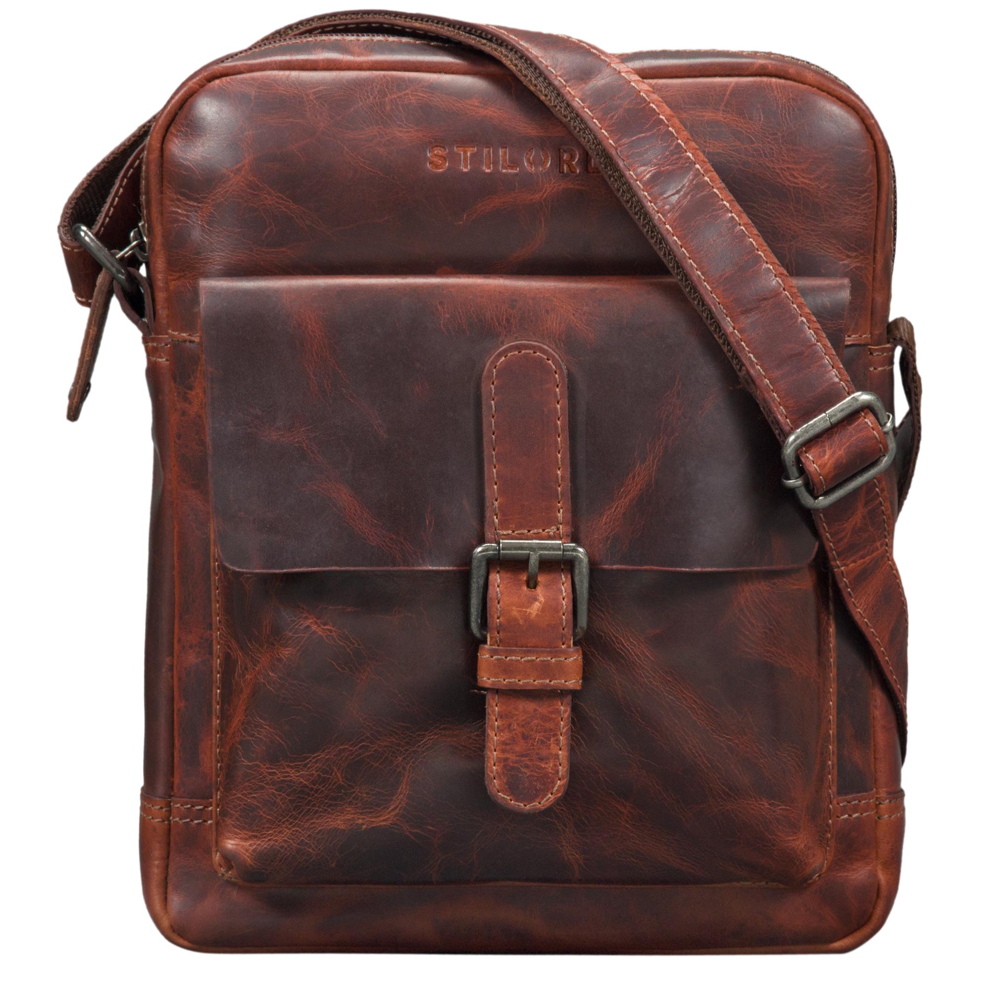 """STILORD """"Luan"""" Kleine Umhängetasche Leder Vintage für Männer und Frauen Messenger Bag mit 10.1 Zoll Tabletfach Cross Body Bag für DIN A5 aus echtem Leder - Bild 10"""
