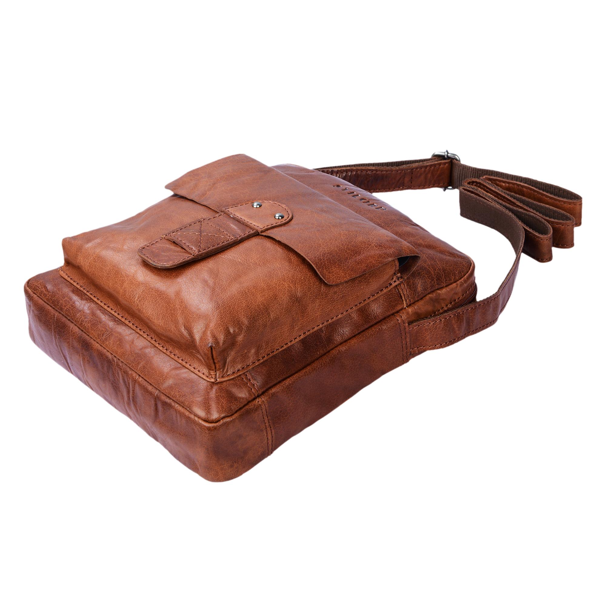 """STILORD """"Luan"""" Kleine Umhängetasche Leder Vintage für Männer und Frauen Messenger Bag mit 10.1 Zoll Tabletfach Cross Body Bag für DIN A5 aus echtem Leder - Bild 6"""