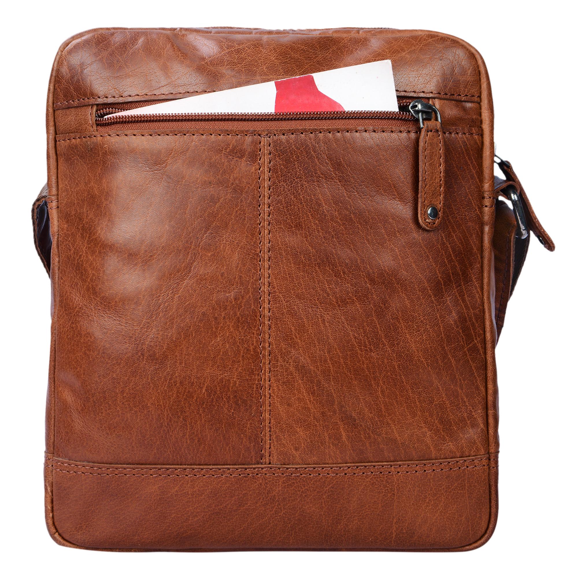 """STILORD """"Luan"""" Kleine Umhängetasche Leder Vintage für Männer und Frauen Messenger Bag mit 10.1 Zoll Tabletfach Cross Body Bag für DIN A5 aus echtem Leder - Bild 7"""
