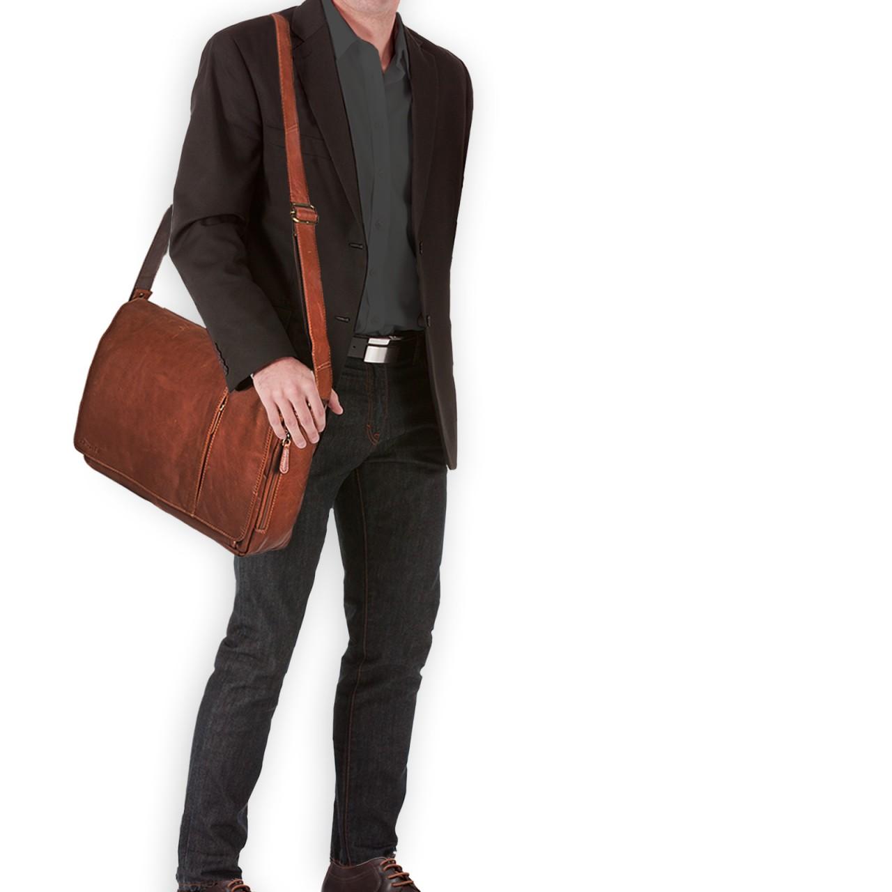 Herren Tasche Tasche Hellbraun Leder Herren Leder bfyY7g6v