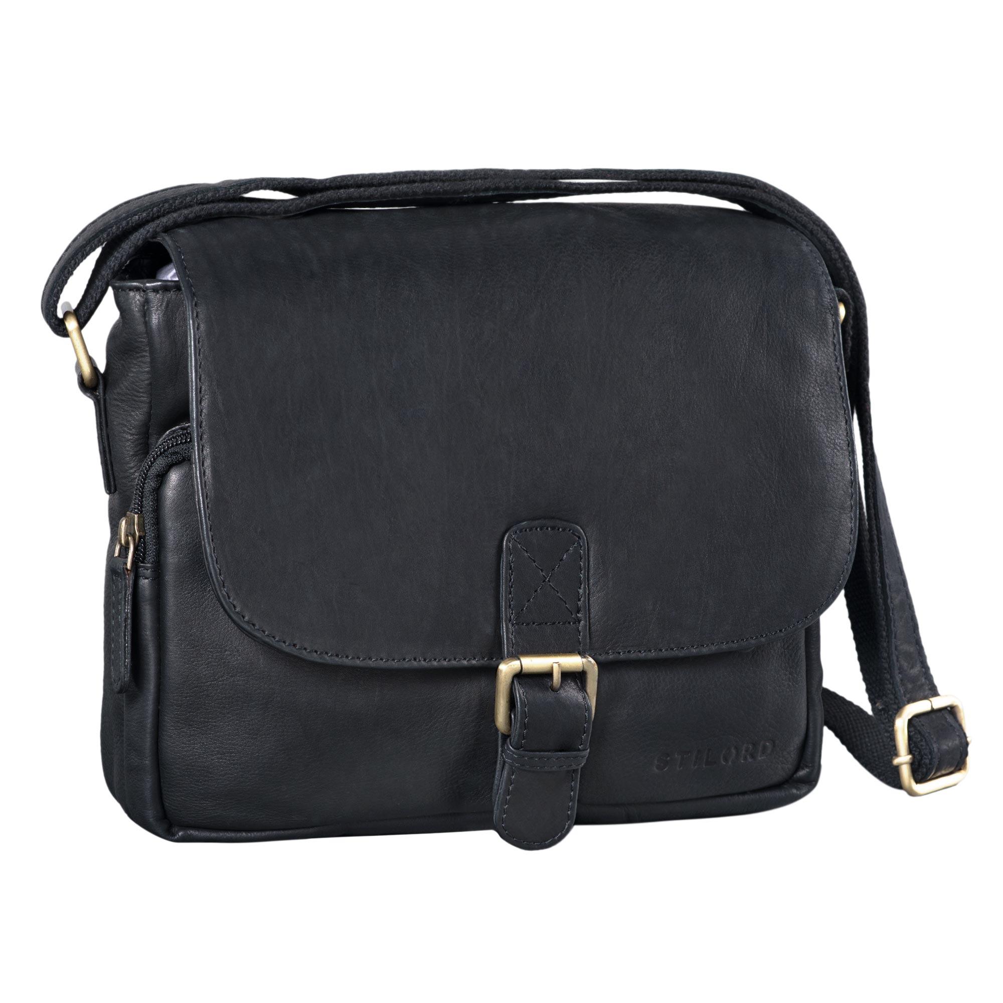 """STILORD """"Lucian"""" Vintage Umhängetasche Leder klein für Herren und Damen braune Schultertasche für 10.1 Zoll Tablet iPad DIN A5 Handtasche aus echtem Leder - Bild 14"""