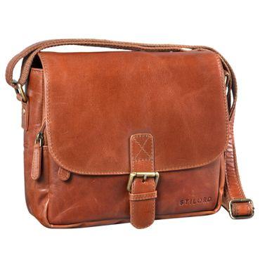 """STILORD """"Lucian"""" Vintage Umhängetasche Leder klein für Herren und Damen braune Schultertasche für 10.1 Zoll Tablet iPad DIN A5 Handtasche aus echtem Leder – Bild 12"""