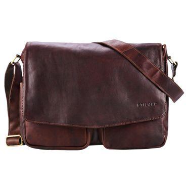 """STILORD """"Leonardo"""" Herren Ledertasche Umhängetasche Vintage große Businesstasche für Büro Arbeit Uni mit 15.6 Zoll Laptopfach aus echtem Büffel Leder – Bild 10"""
