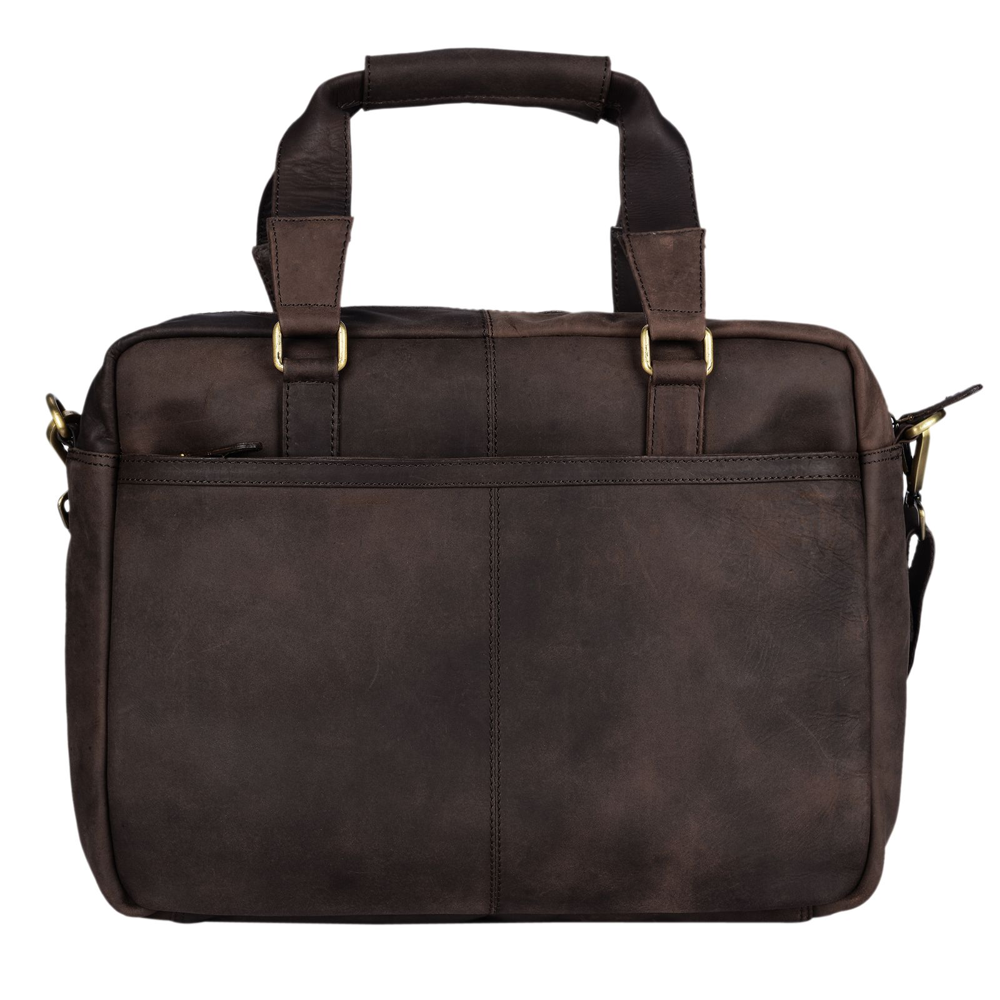 """STILORD """"Vitus"""" Ledertasche Männer Frauen braun tragbar als Vintage Umhängetasche große Handtasche mit 15.6 Zoll Laptopfach ideal als College Bag Bürotasche Aktentasche - Bild 21"""