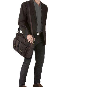 """STILORD """"Vitus"""" Ledertasche Männer Frauen braun tragbar als Vintage Umhängetasche große Handtasche mit 15.6 Zoll Laptopfach ideal als College Bag Bürotasche Aktentasche – Bild 16"""