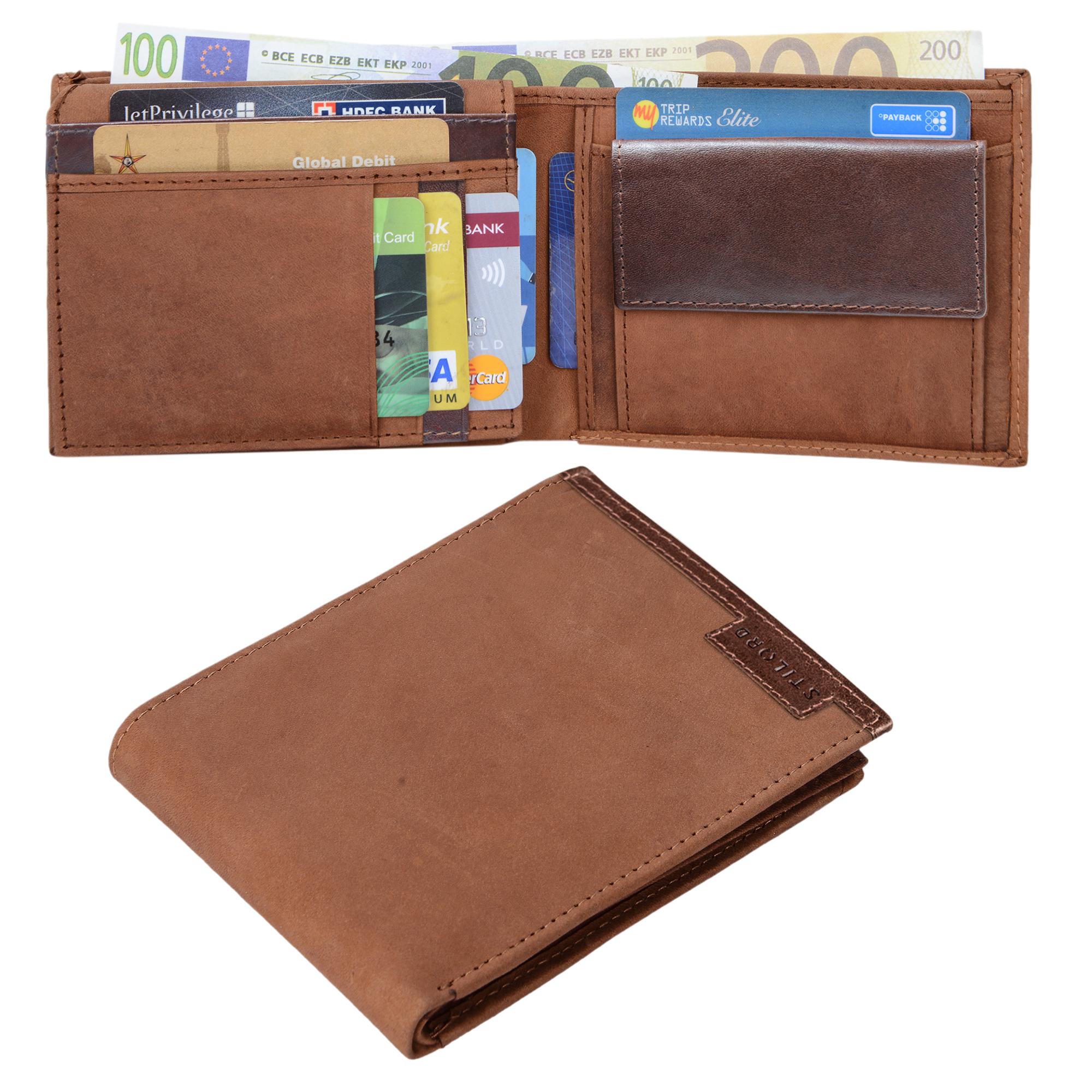 STILORD Vintage Herren Geldbörse / Portemonnaie aus hochwertigem Echt Leder, braun - Bild 8