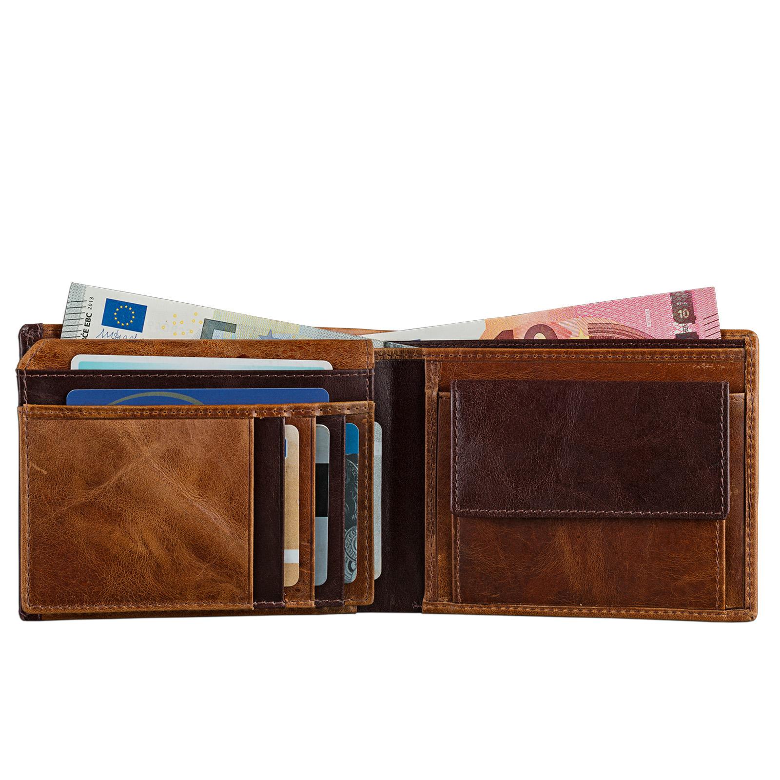 STILORD Vintage Herren Geldbörse / Portemonnaie aus hochwertigem Echt Leder, braun - Bild 6