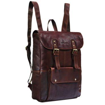"STILORD ""Manila"" Vintage Leder Rucksack Damen Herren XL Lederrucksack DIN A4 braune Rucksackhandtasche mit 15,6 Zoll Laptopfach großer Daypack aus echtem Leder Farbe: cognac - dunkelbraun"
