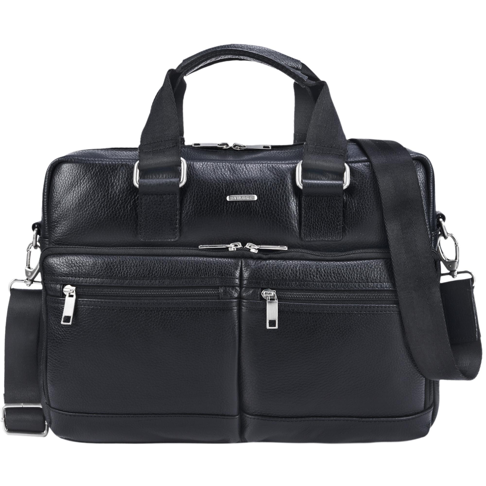 stilord vito vintage businesstasche leder herren damen 14 zoll laptoptasche umh ngetasche. Black Bedroom Furniture Sets. Home Design Ideas