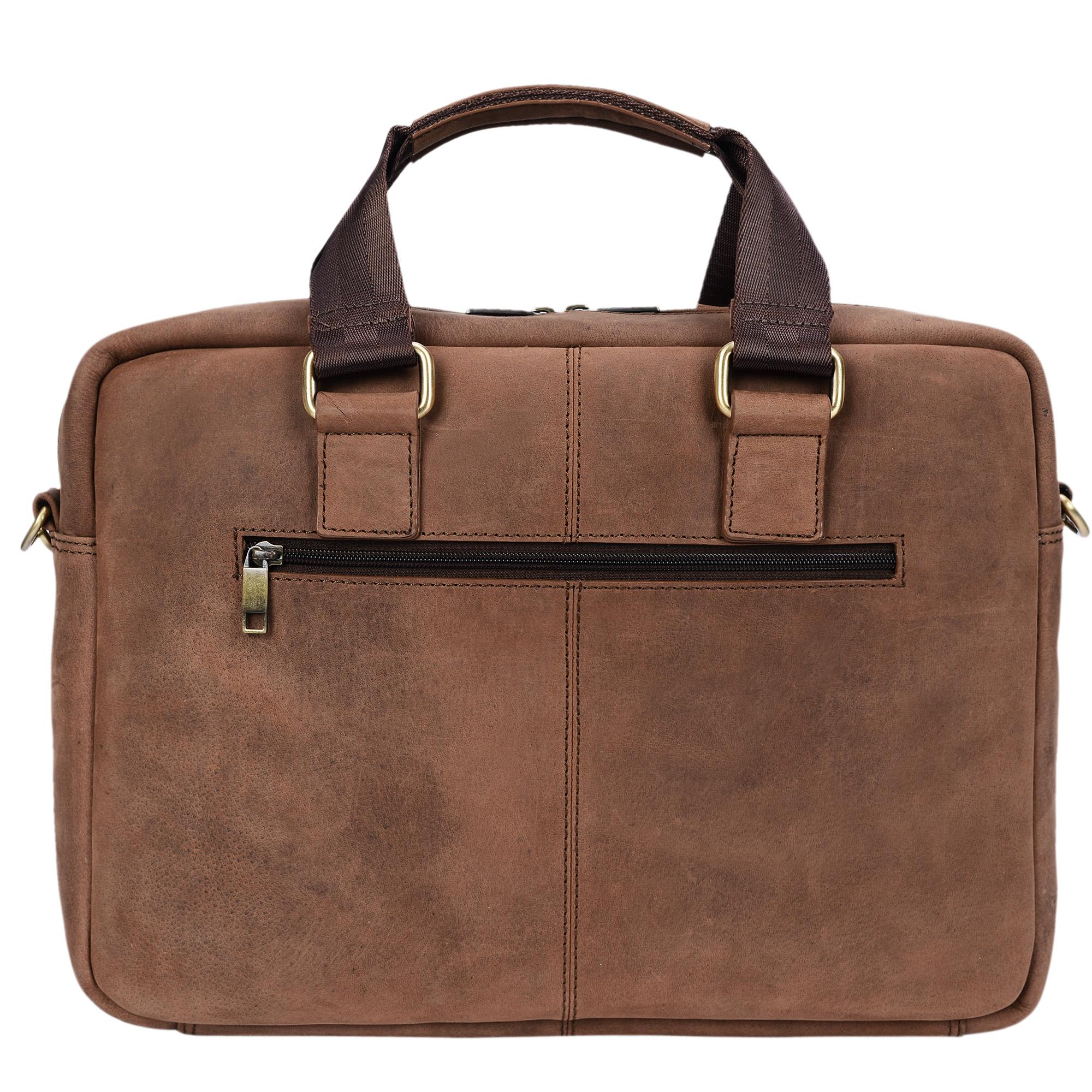 """STILORD """"Vito"""" Vintage Businesstasche Leder Herren Damen 14 Zoll Laptoptasche Umhängetasche Aktentasche Arbeitstasche Rindsleder - Bild 6"""