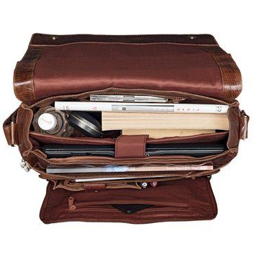 """STILORD B-WARE """"Elias"""" Businesstasche mit Laptopfach 15,6 Zoll Umhängetasche Herren Damen Aktentasche Unitasche Bürotasche Schultertasche Antik Leder braun – Bild 6"""