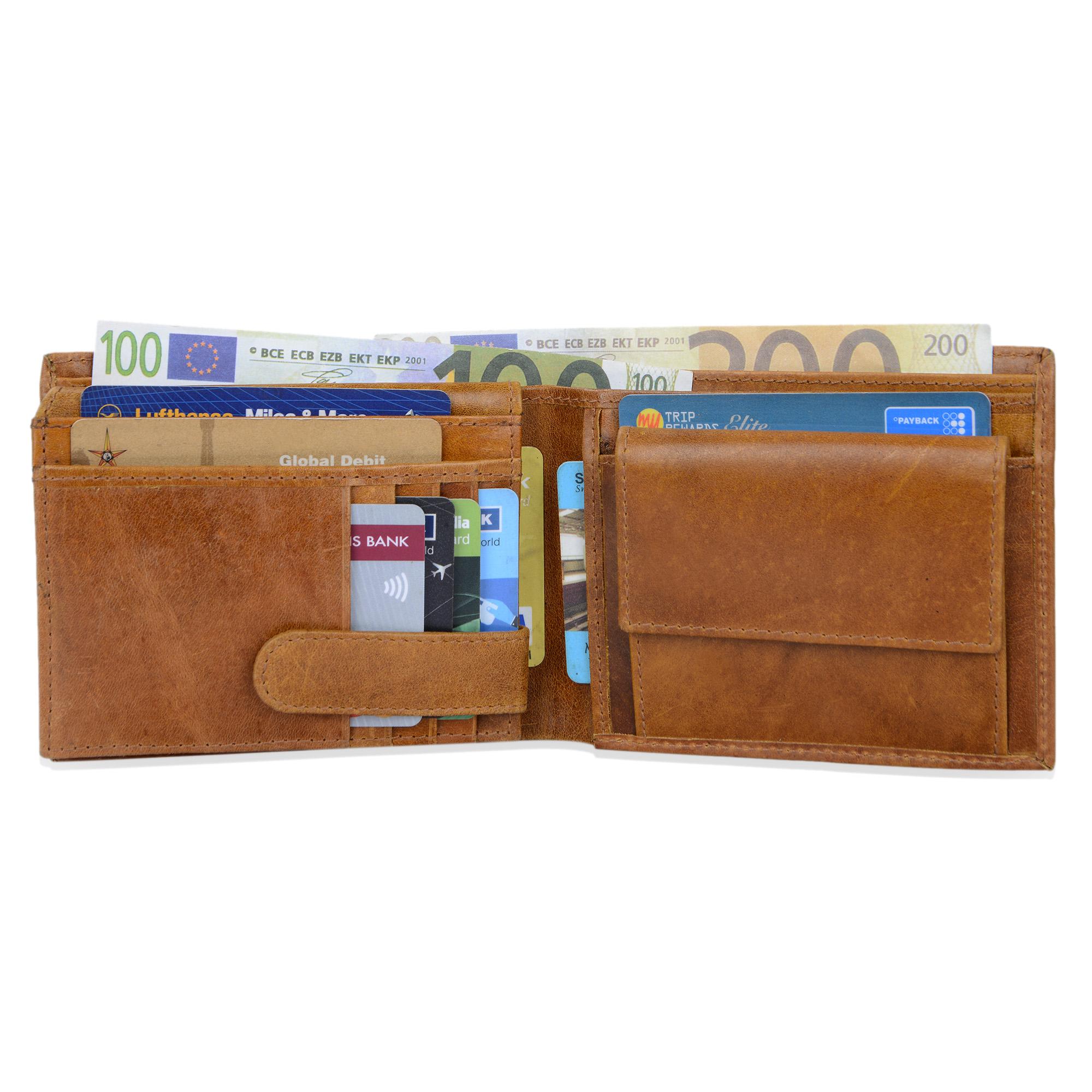 """STILORD """"Chester"""" Vintage Leder Geldbörse mit EC-Karten Schutz Herren Portemonnaie Brieftasche elegant  Retro Rindsleder - Bild 9"""