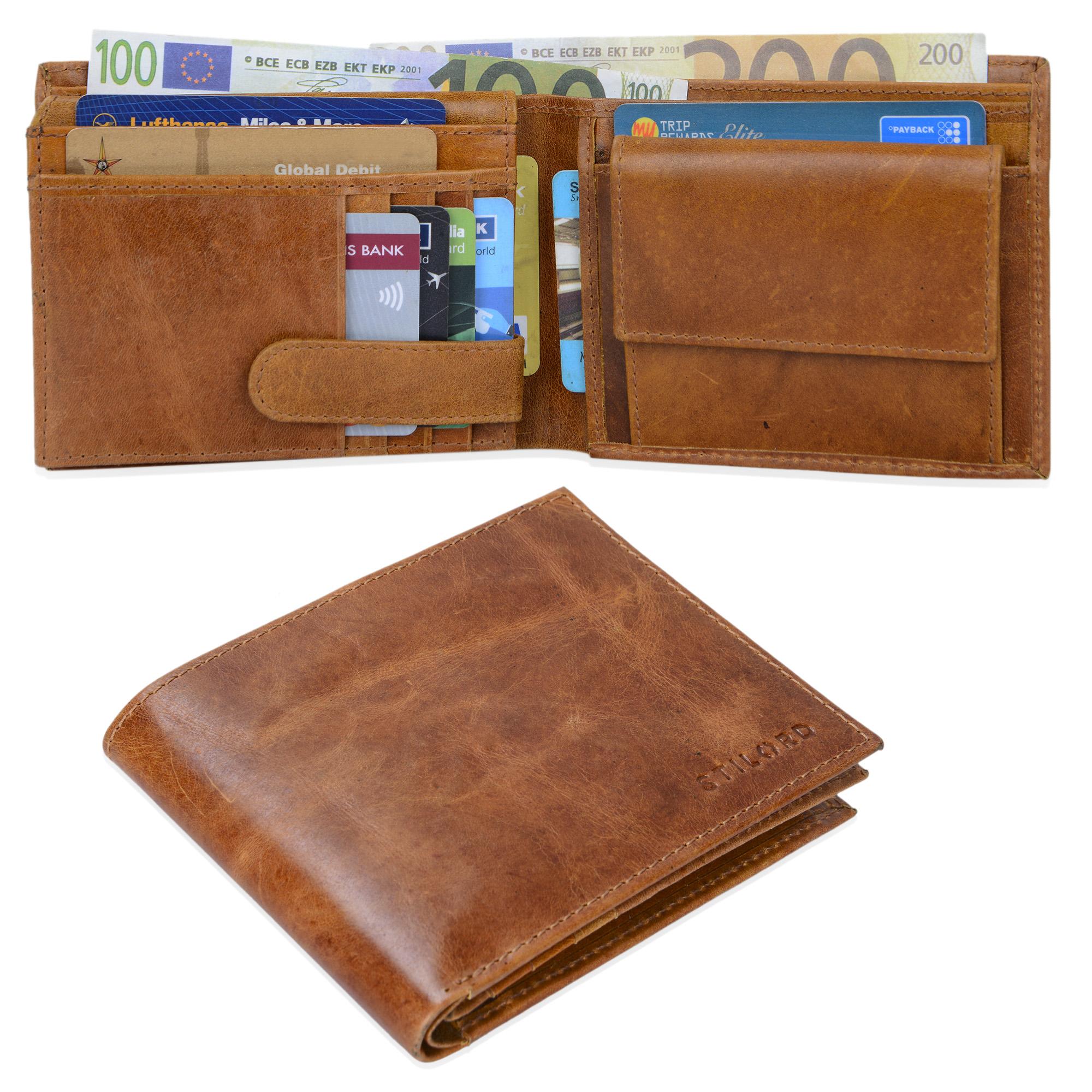 """STILORD """"Chester"""" Vintage Leder Geldbörse mit EC-Karten Schutz Herren Portemonnaie Brieftasche elegant  Retro Rindsleder - Bild 8"""
