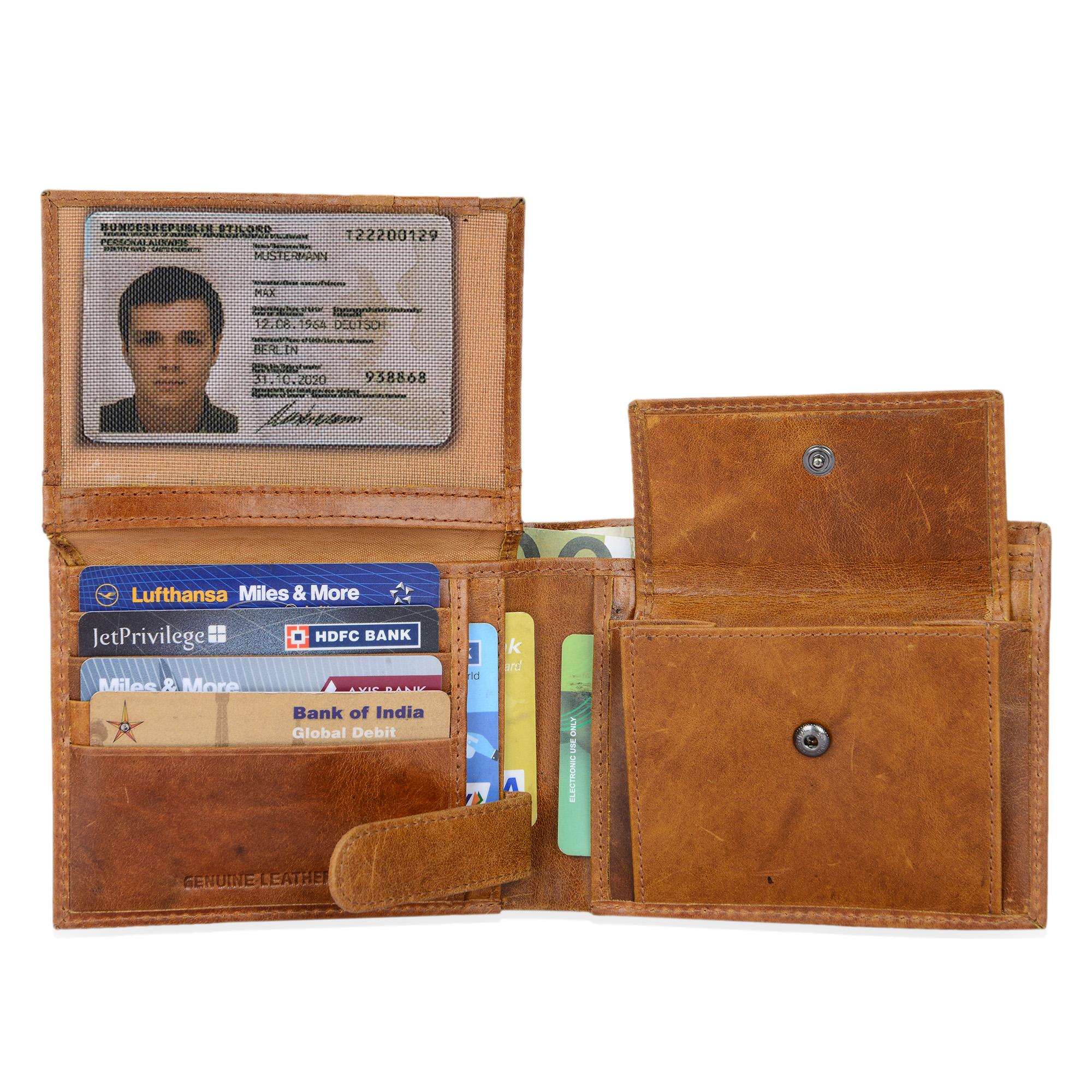 """STILORD """"Chester"""" Vintage Leder Geldbörse mit EC-Karten Schutz Herren Portemonnaie Brieftasche elegant  Retro Rindsleder - Bild 10"""
