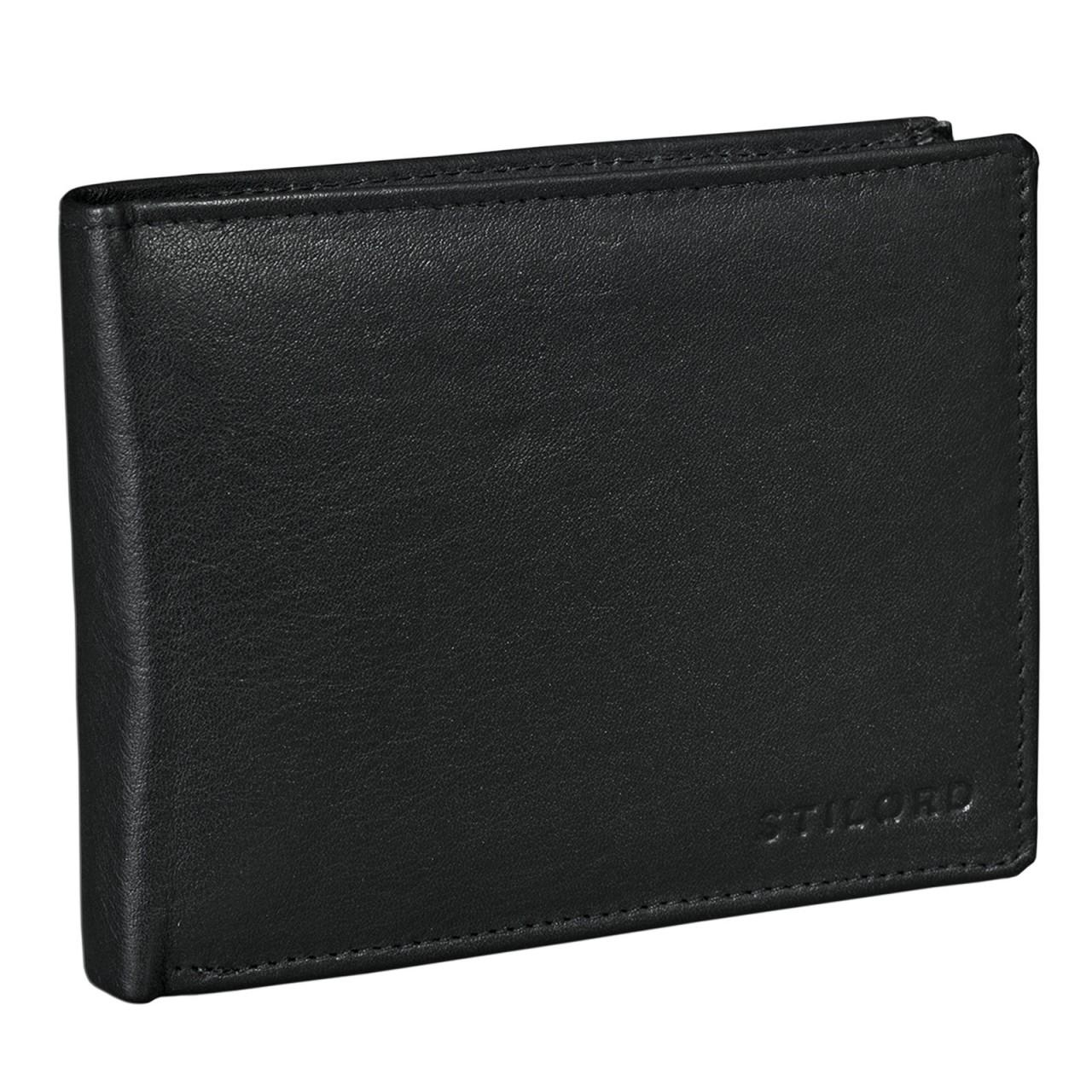 EC-Karten Geldbörse Leder schwarz