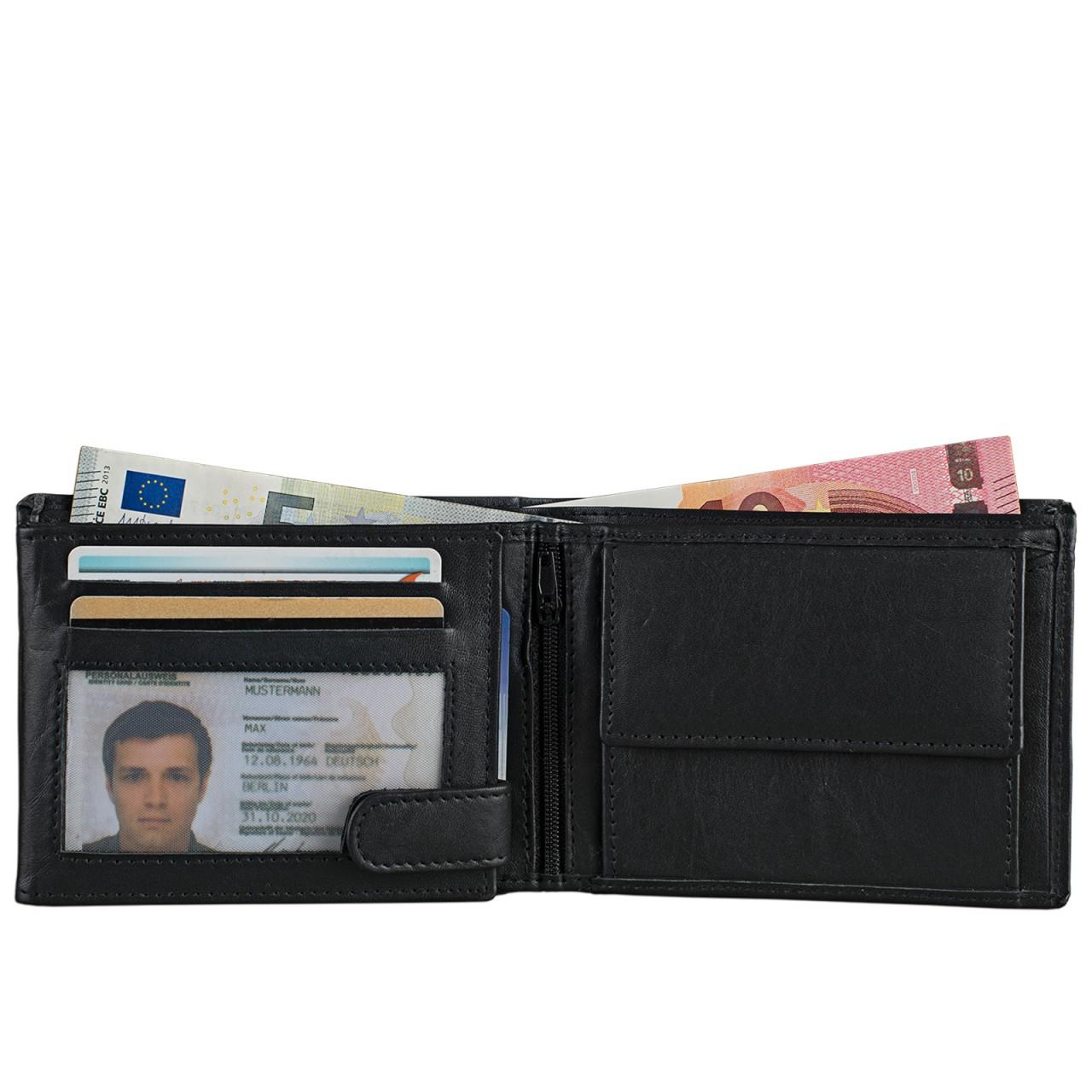 STILORD Wallet Portemonnaie Echtleder schwarz