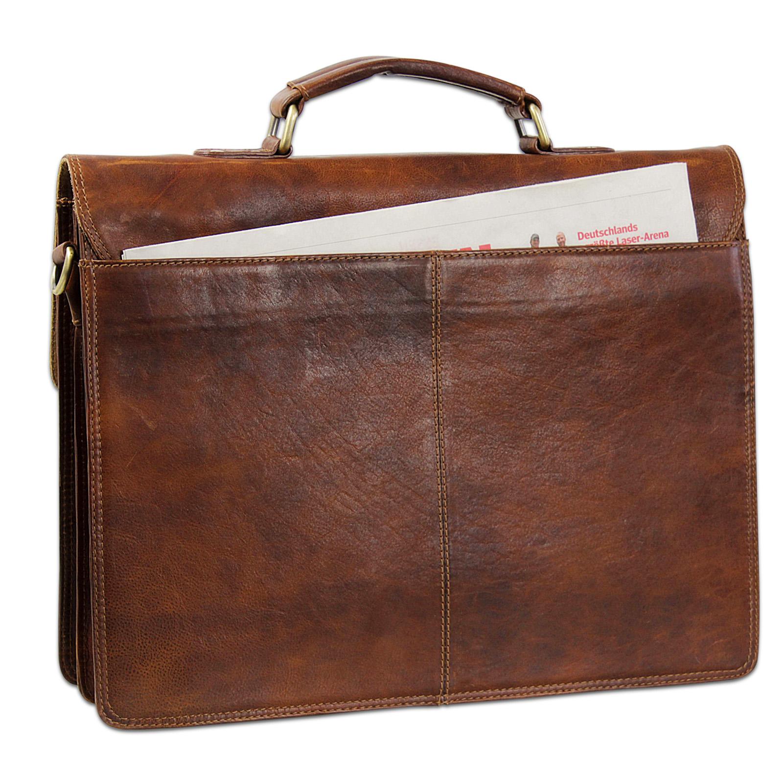 Bürotasche braun Vintage