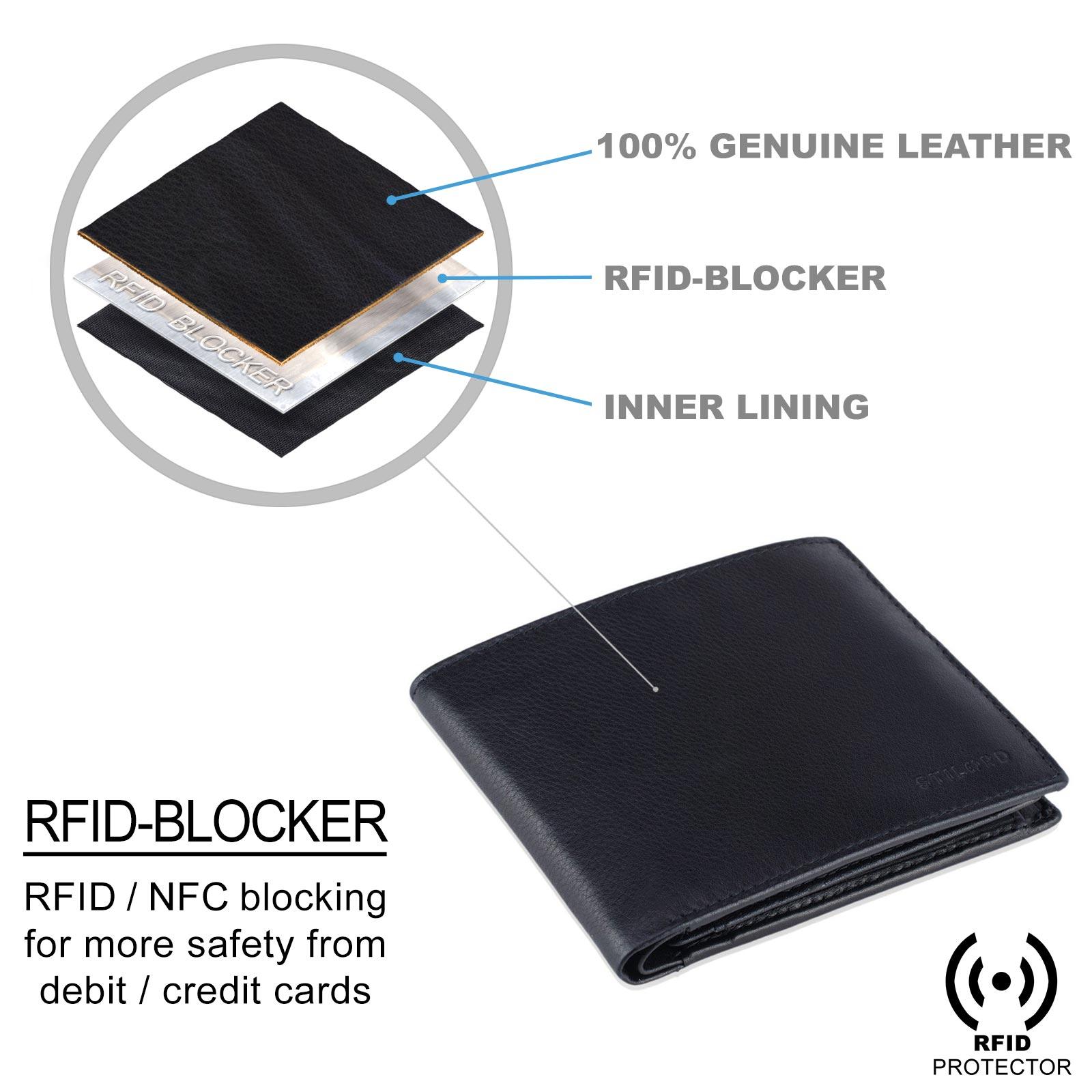 Portemonnaie Männer Leder RFID