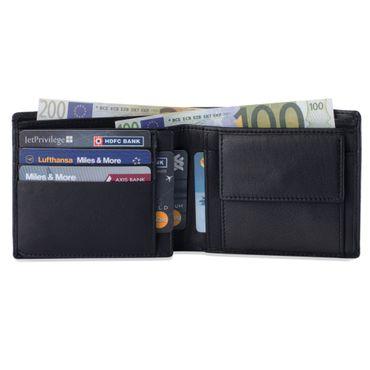 Leder Portemonnaie viele Karten anti RFID