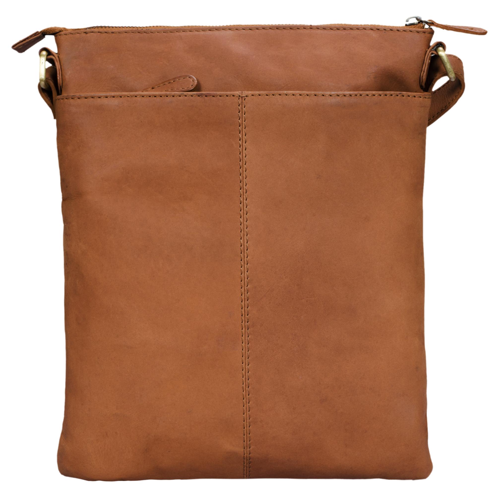 """STILORD """"Mason"""" Vintage Umhängetasche 13 Zoll für Männer Frauen braune Messenger Bag für DIN A4 Dokumente Schultertasche aus echtem Leder - Bild 14"""