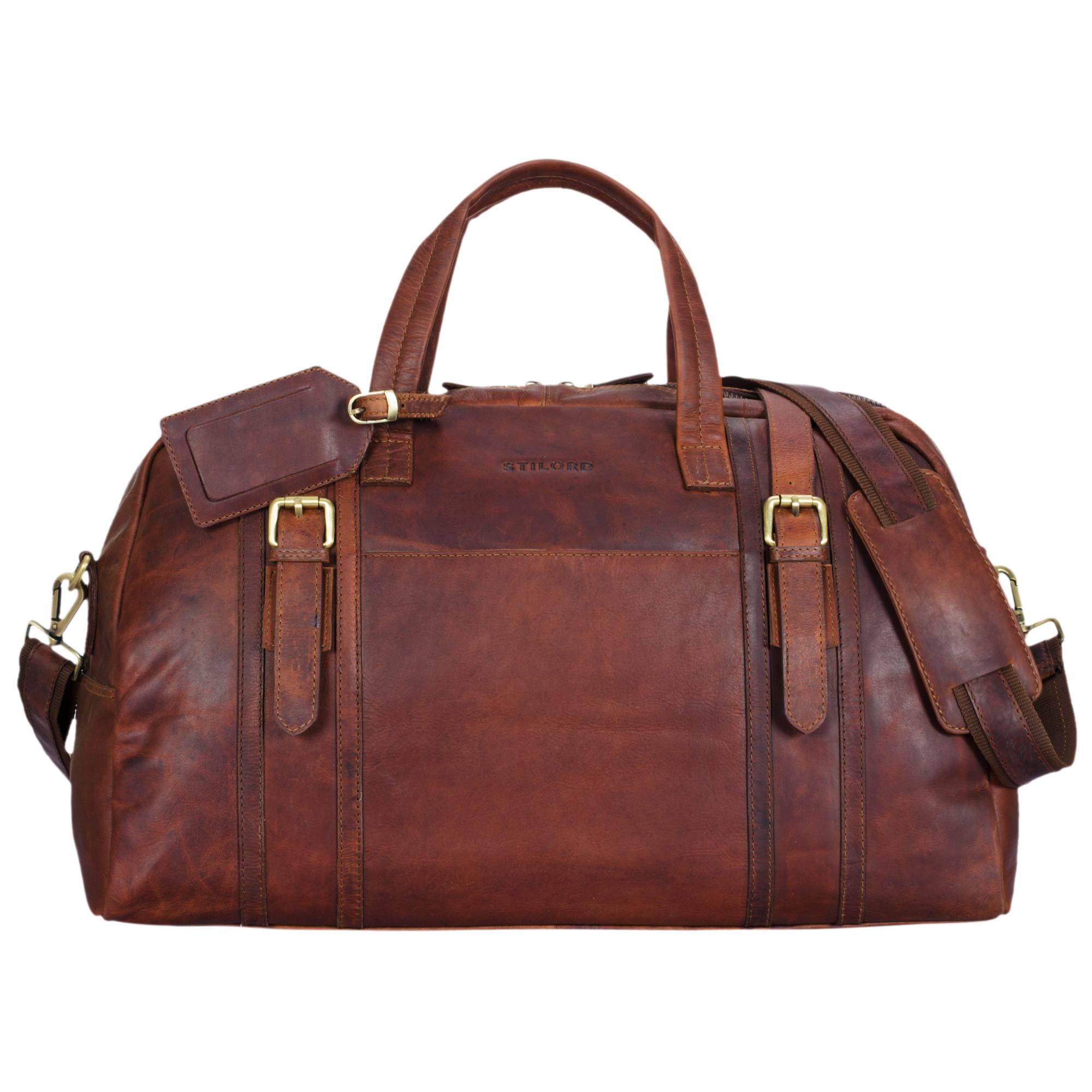 """STILORD """"Georgia"""" Große Reisetasche Vintage Leder mit Tragegriff und Schultergurt Reisegepäck Handgepäck in Kabinengröße aus echtem Büffel Leder - Bild 10"""
