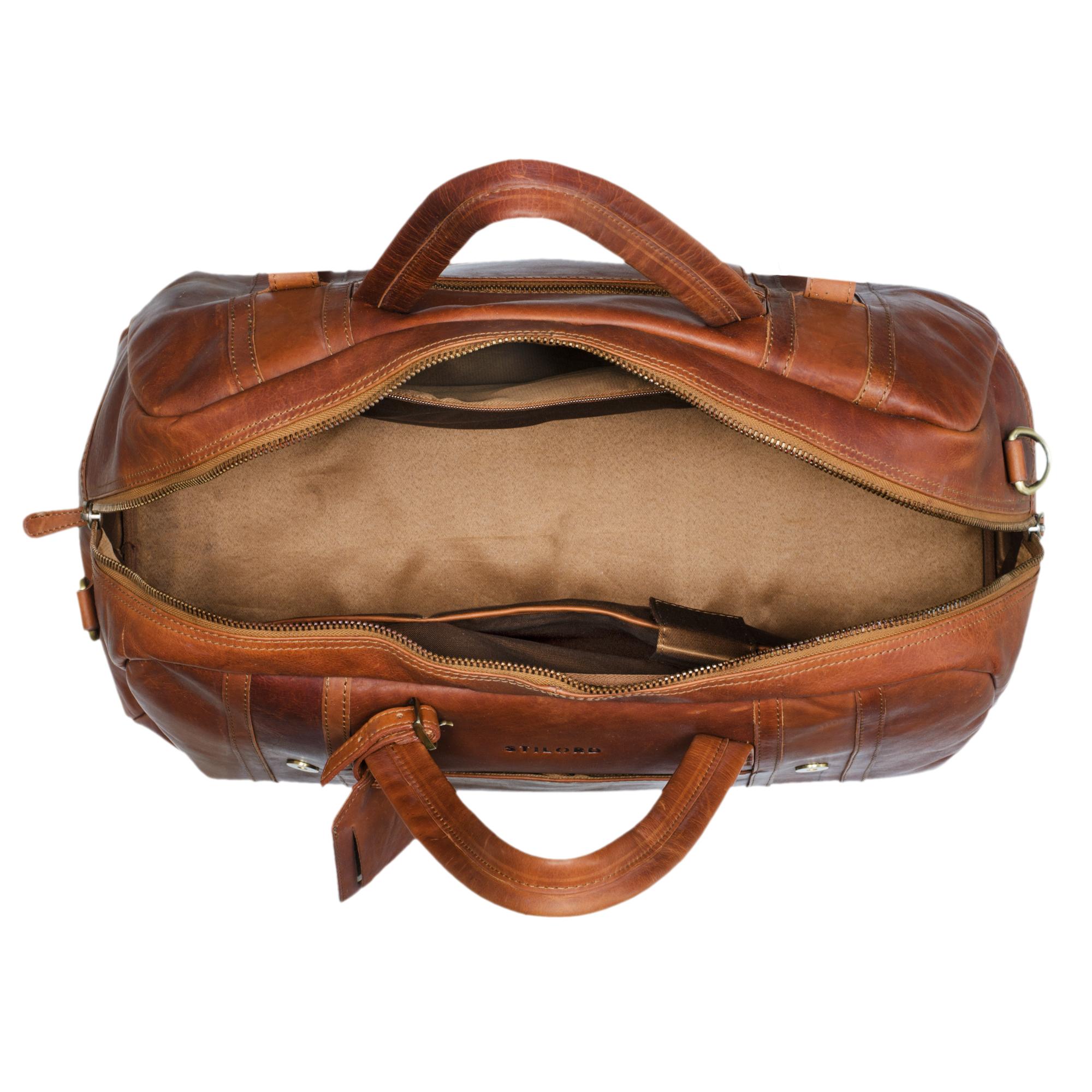 Overnight Weekender Bag Leder