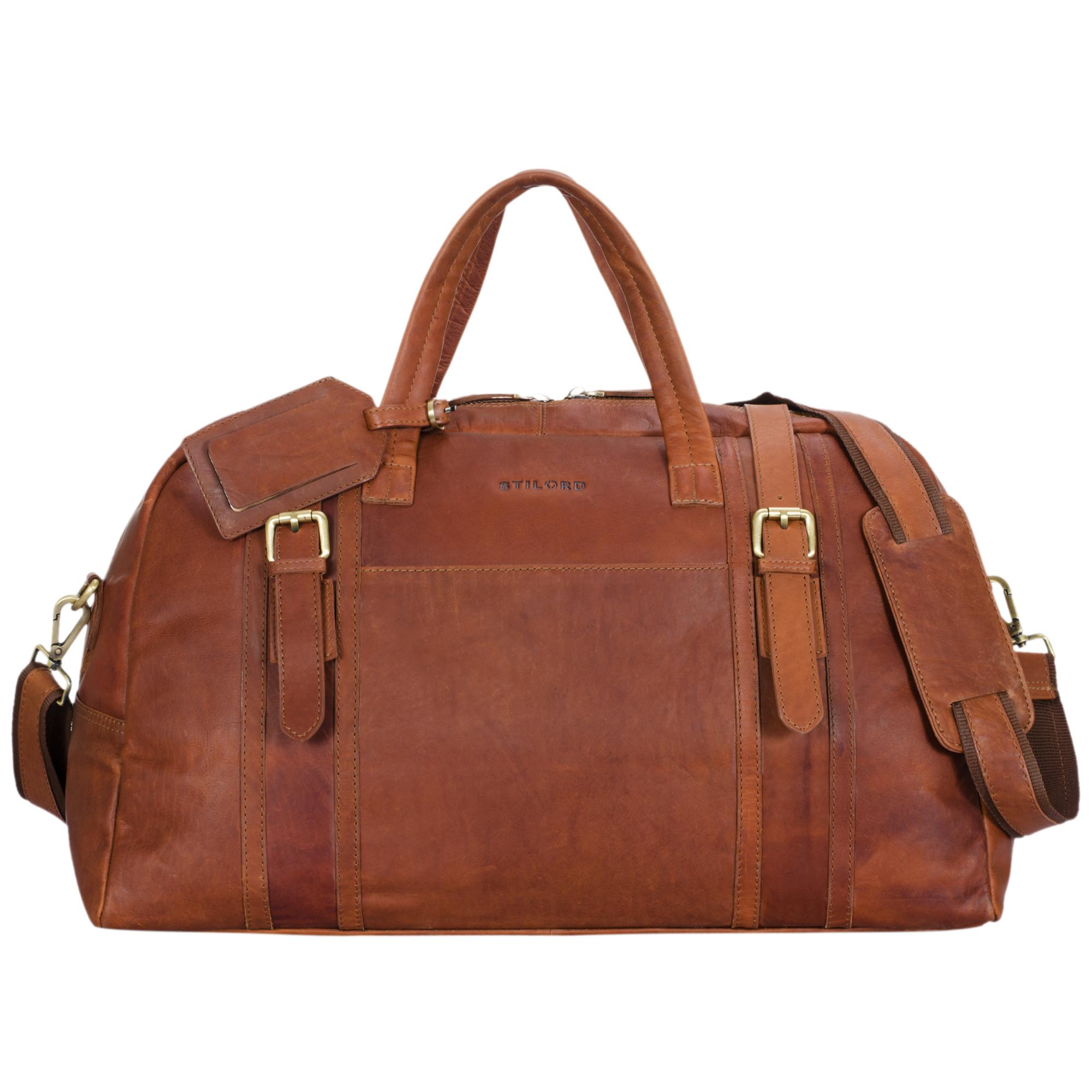 Leder Weekender Tasche XL