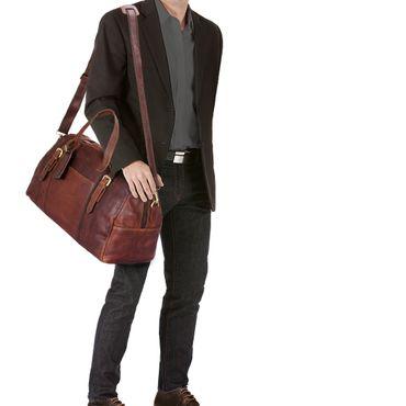 """STILORD """"Georgia"""" Große Reisetasche Vintage Leder mit Tragegriff und Schultergurt Reisegepäck Handgepäck in Kabinengröße aus echtem Büffel Leder – Bild 9"""