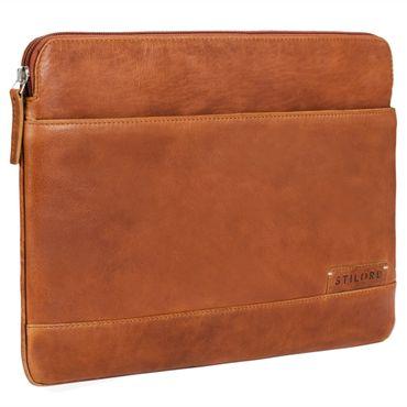 """STILORD """"Robb"""" Vintage Leder Laptoptasche für 13,3 Zoll MacBooks MacBooktasche Universal Tablettasche bis 14 Zoll DIN A4 echtes Rindsleder – Bild 8"""