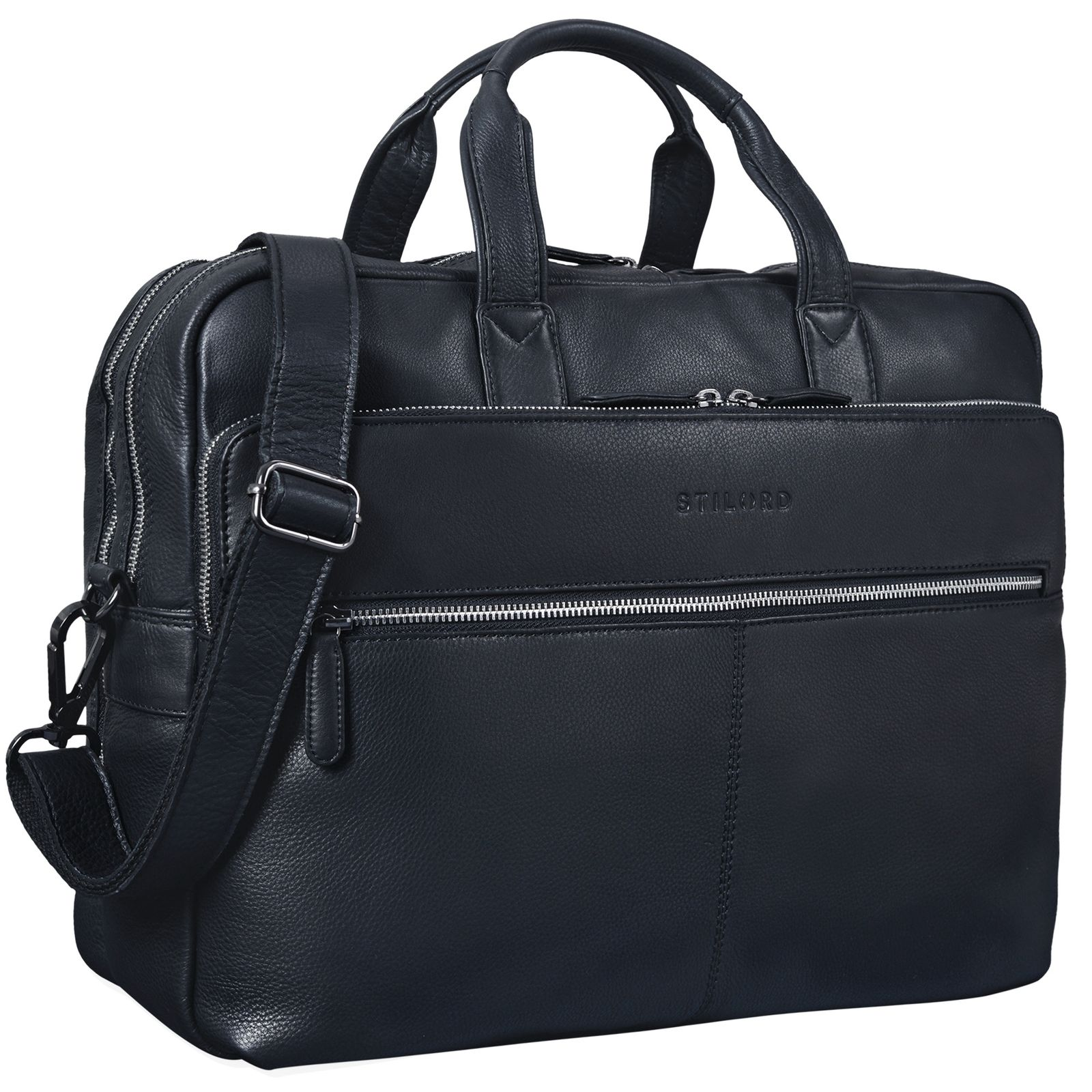 """STILORD """"William"""" Businesstasche Leder groß XL Lehrertasche Aktentasche 15,6 Zoll Laptoptasche Bürotasche Ledertasche Vintage Umhängetasche Echtleder - Bild 10"""