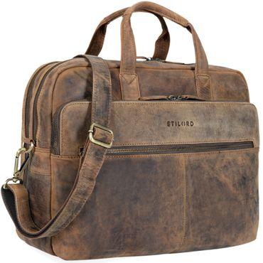 """STILORD """"William"""" Businesstasche Leder groß XL Lehrertasche Aktentasche 15,6 Zoll Laptoptasche Bürotasche Ledertasche Vintage Umhängetasche Echtleder – Bild 8"""