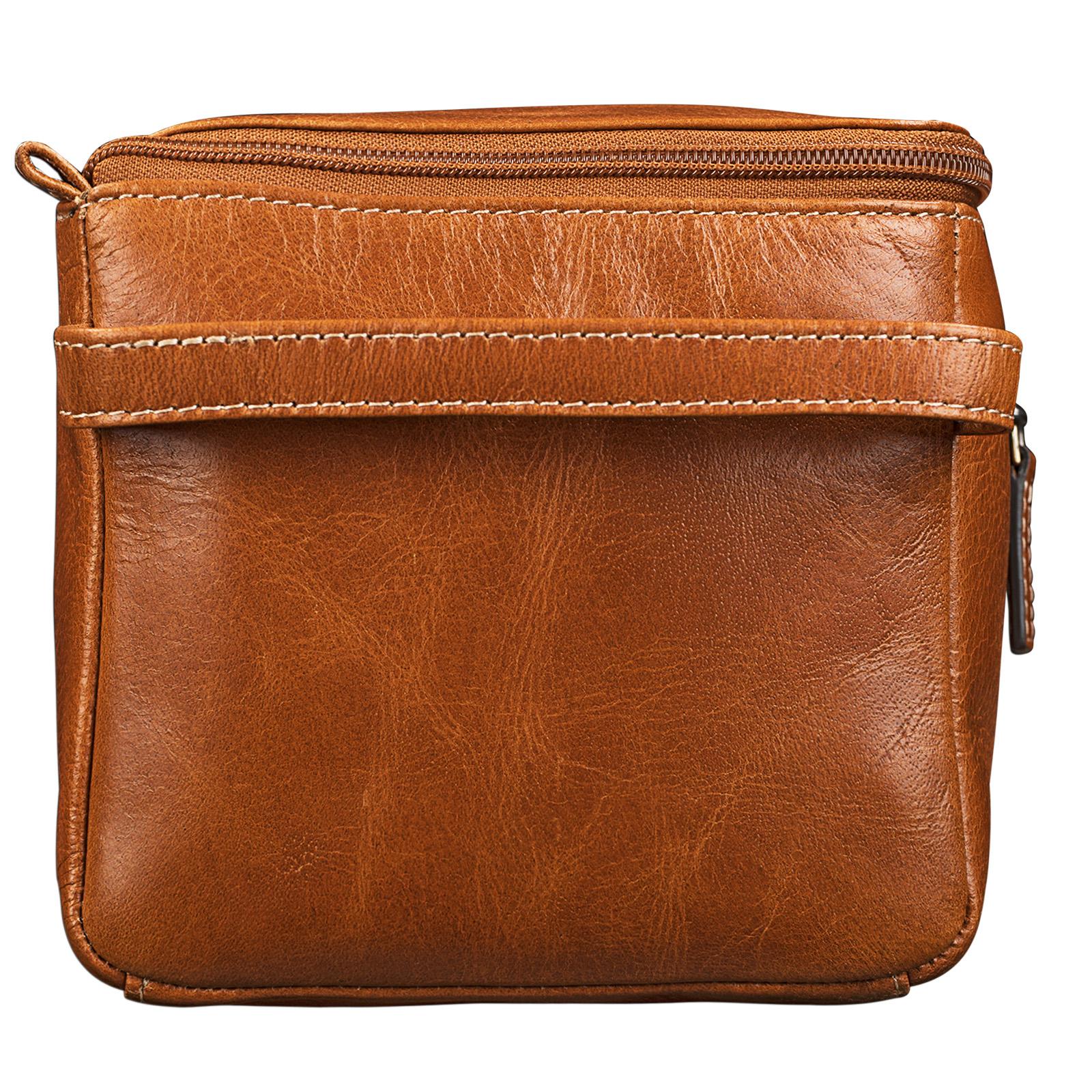 Reiseaccessoire Damen Leder Kulturtasche