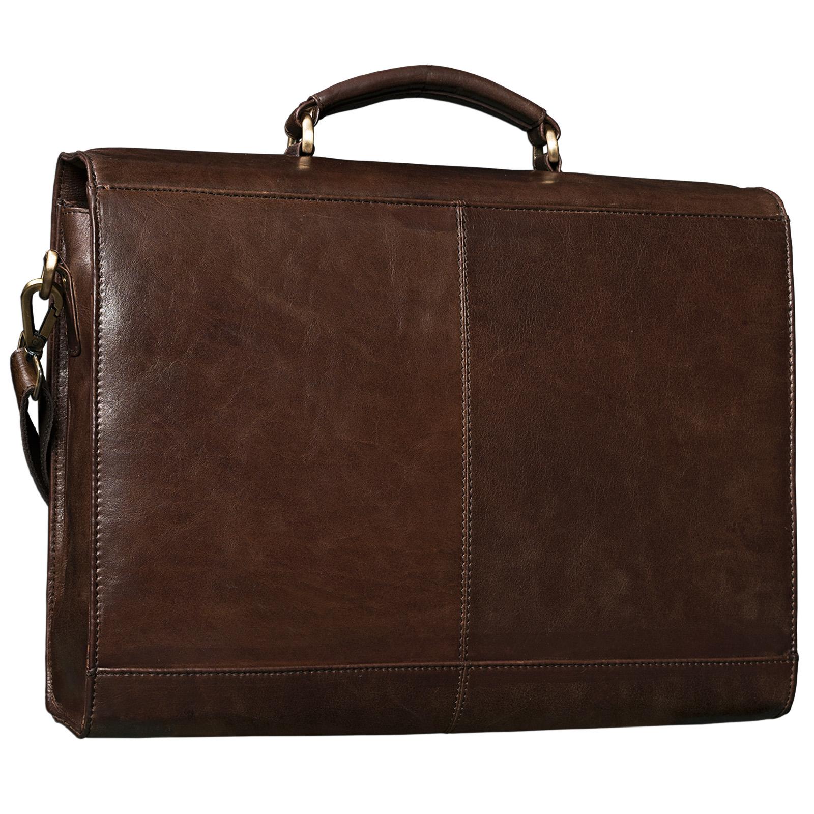 """STILORD B-WARE """"Philipp"""" Aktentasche aus echtem Leder in klassischem Vintage Design mit 15,6 Zoll Laptopfach Dokumententasche Businesstasche Herren Damen - Bild 9"""
