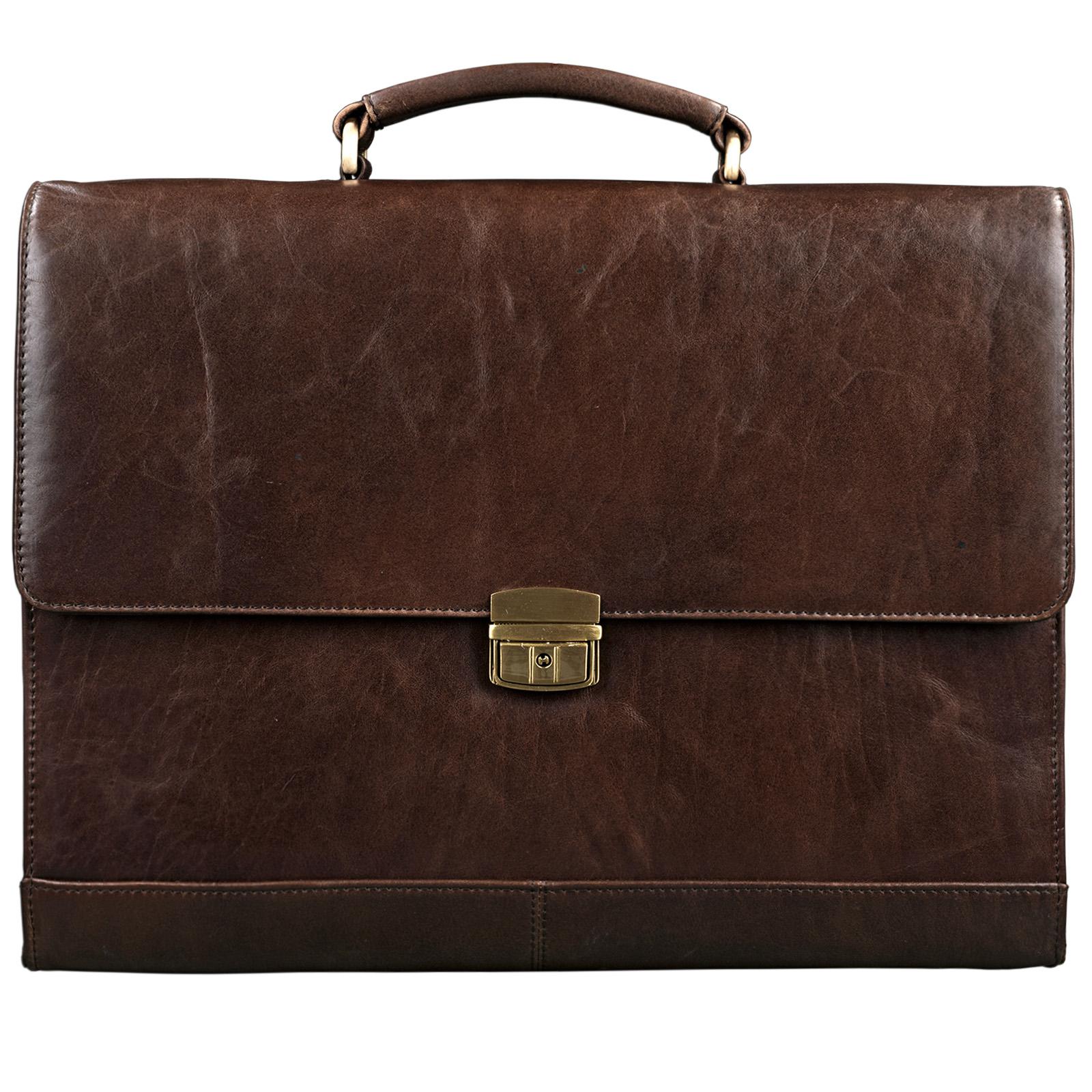 """STILORD B-WARE """"Philipp"""" Aktentasche aus echtem Leder in klassischem Vintage Design mit 15,6 Zoll Laptopfach Dokumententasche Businesstasche Herren Damen - Bild 3"""