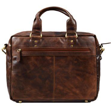 """STILORD """"Jack"""" Ledertasche Aktentasche Herren Vintage Umhängetasche für Büro Business Arbeit 13,3 Zoll Laptoptasche für große DIN A4 Aktenordner echtes Leder – Bild 7"""